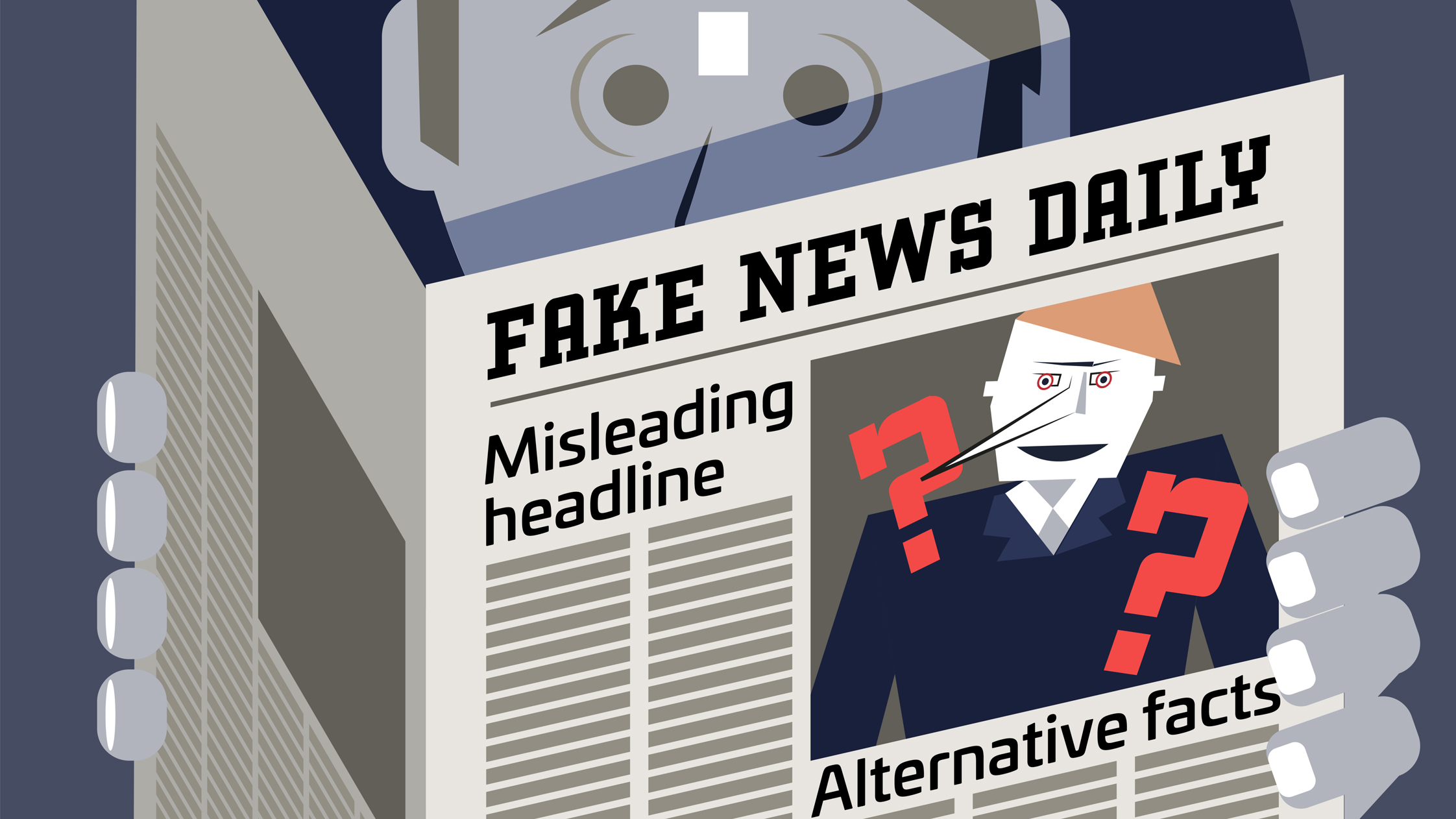 Fake news illustration.