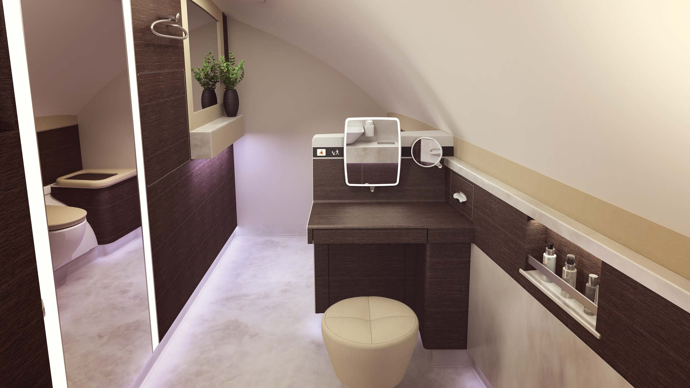 Singapore airlines unveils entire first class suites on for Bathroom remodel york pa