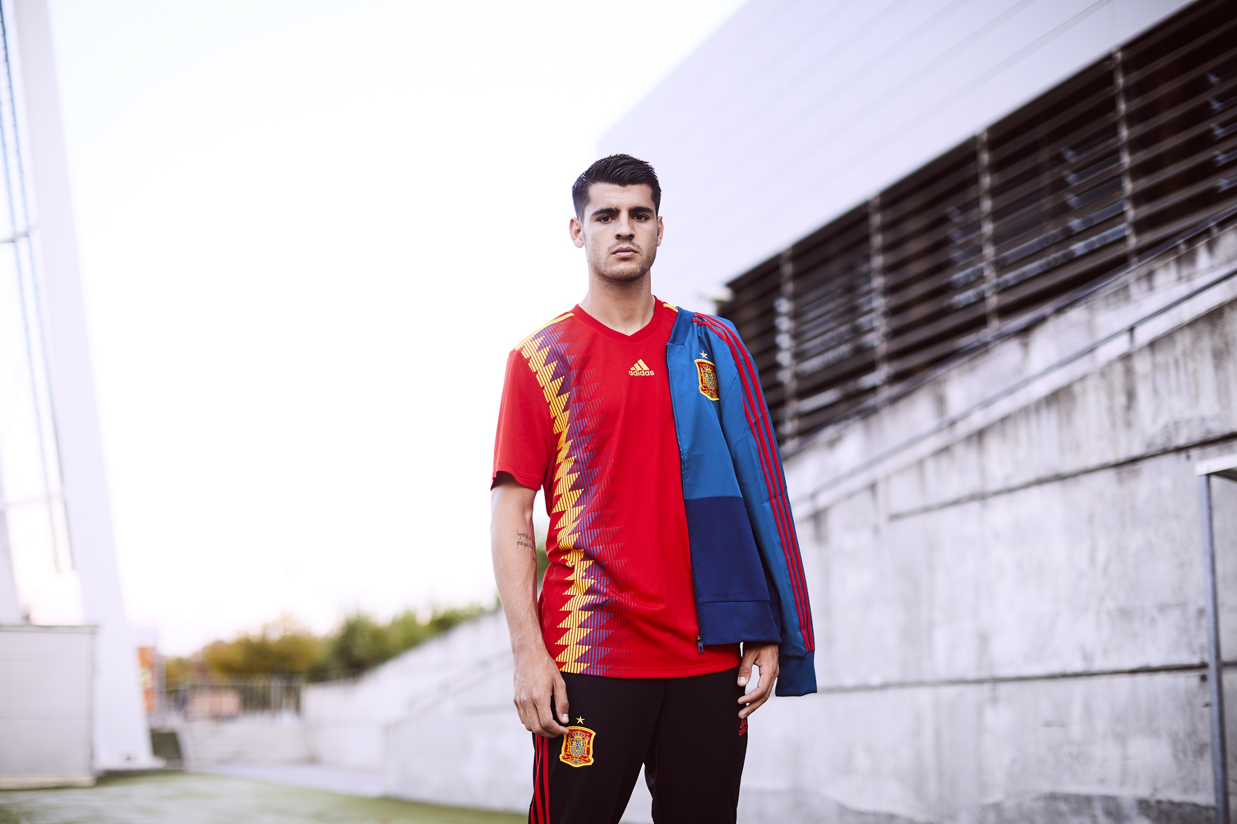 Spain's home shirt for the 2018 World Cup in Russia
