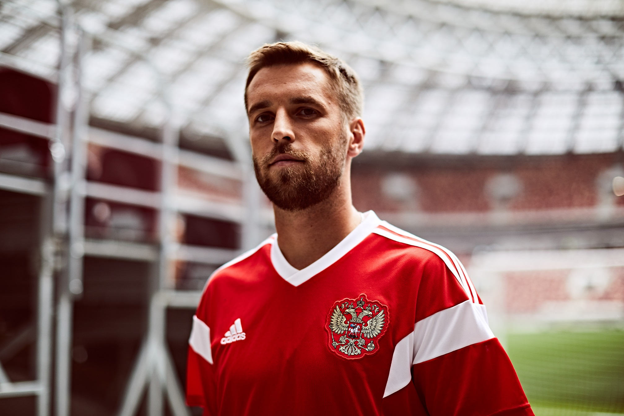 Russia's home shirt for the 2018 World Cup in Russia