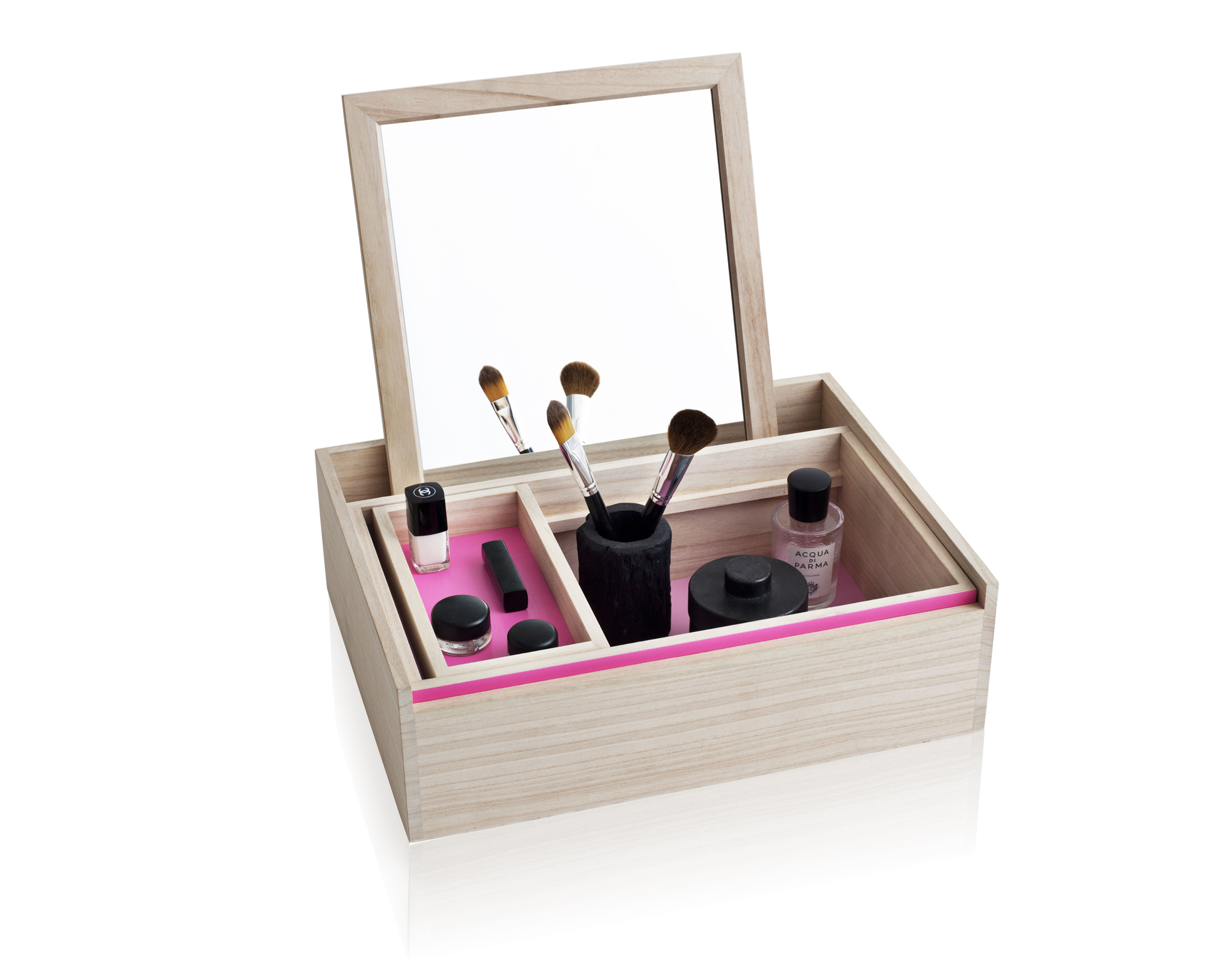 Nomess Balsabox Personal Storage Box – Large – Pink, £104, Amara