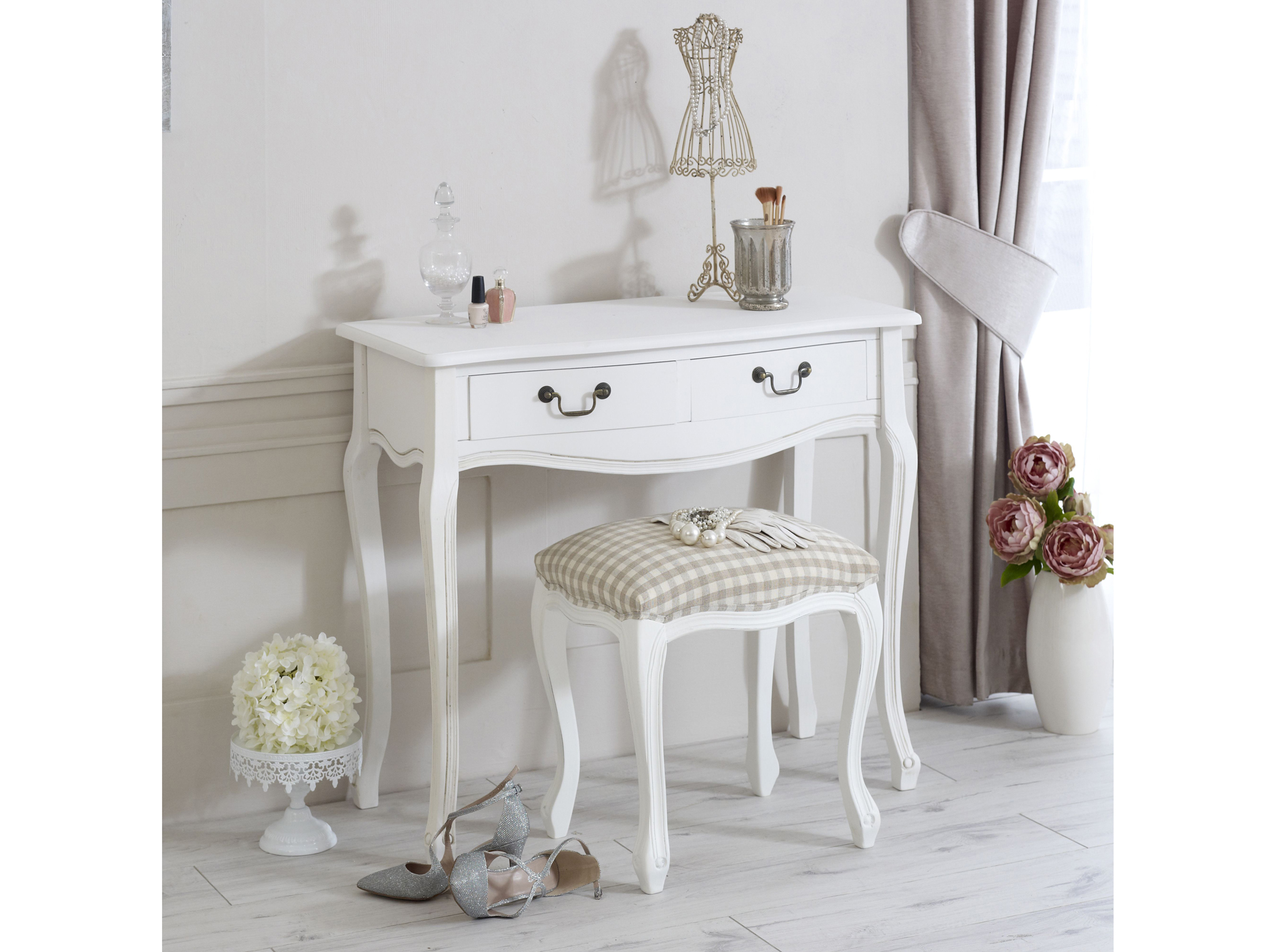 Classic White Range Dressing Table with Stool, £154.95, Melody Maison