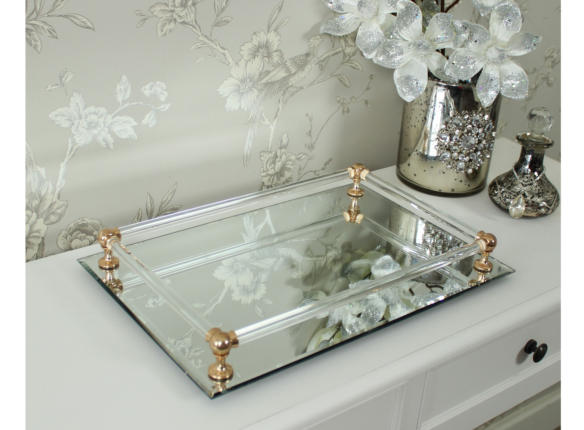 Rectangular Mirror Display Tray, £21.95, Melody Maison