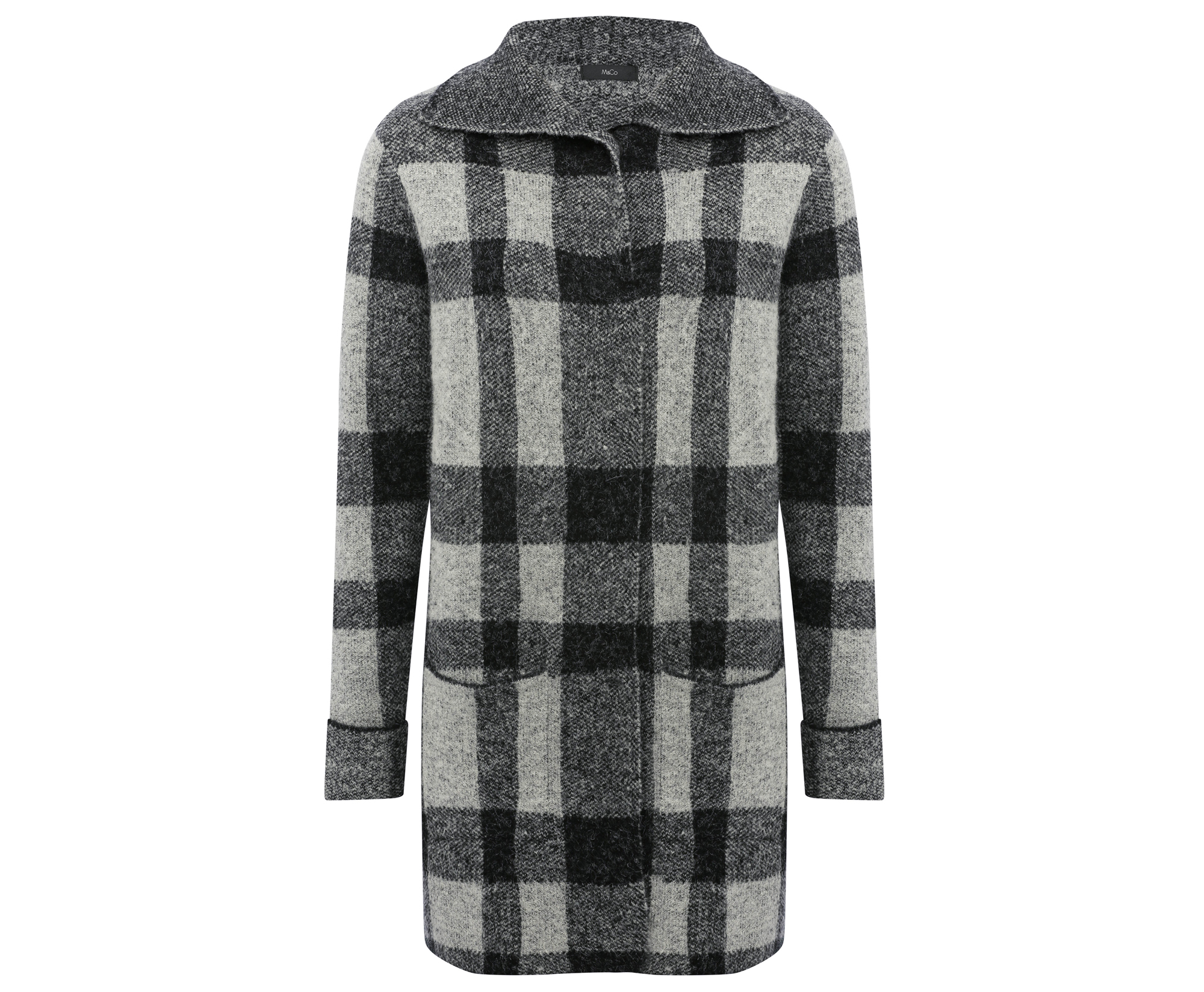 M&Co Check Oversized Cardigan