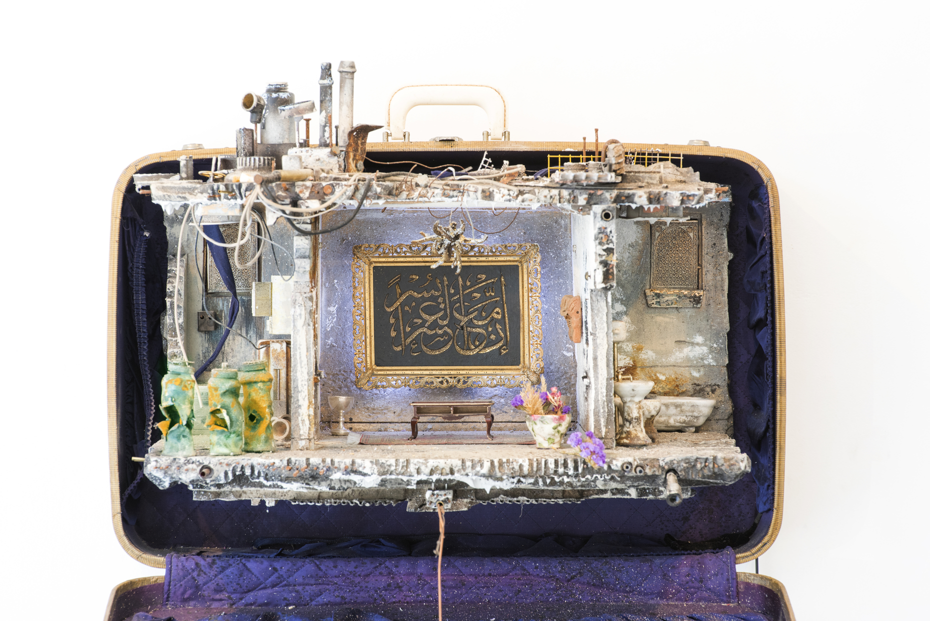 A suitcase made by Mohamed Hafez