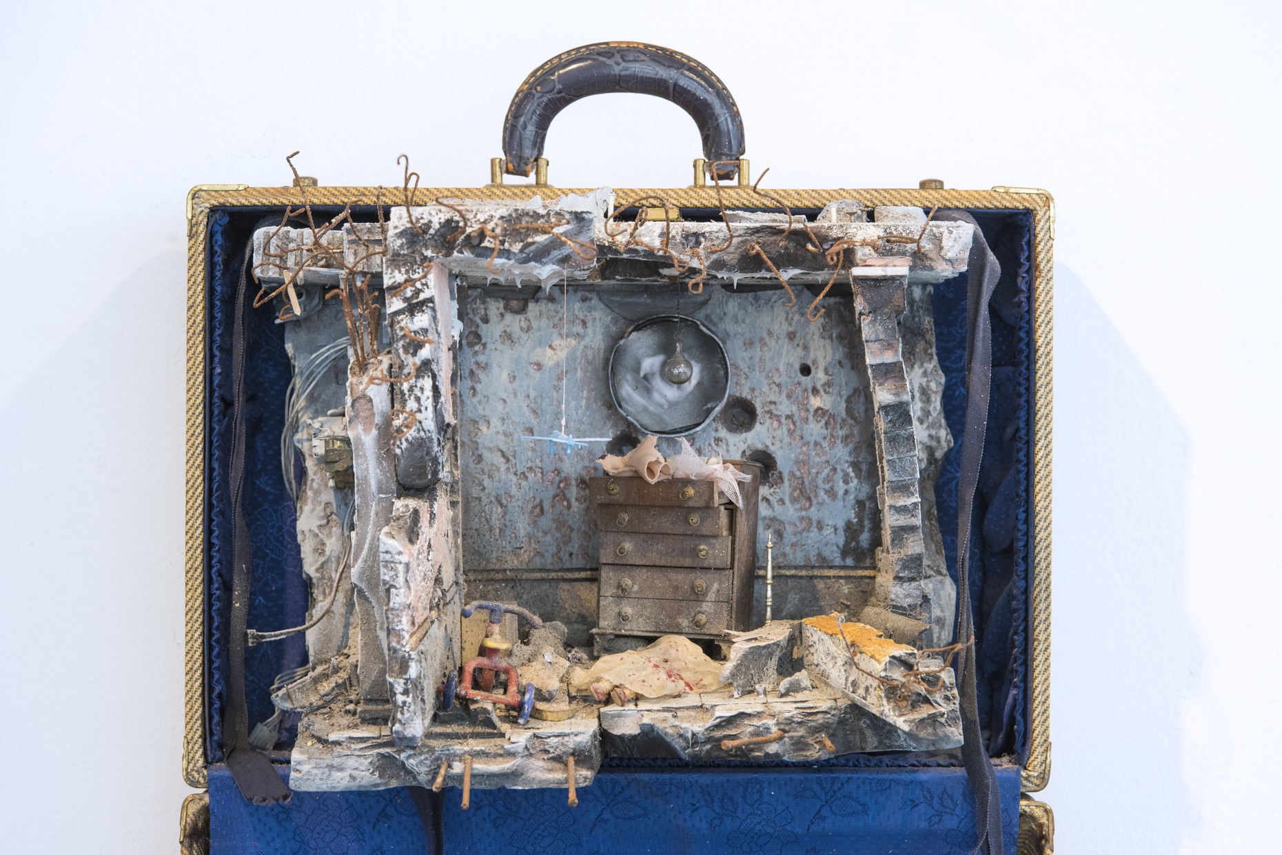 A home made in a suitcase