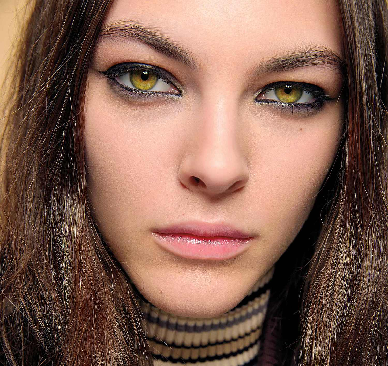 a model backstage at the Chloe AW17 catwalk show