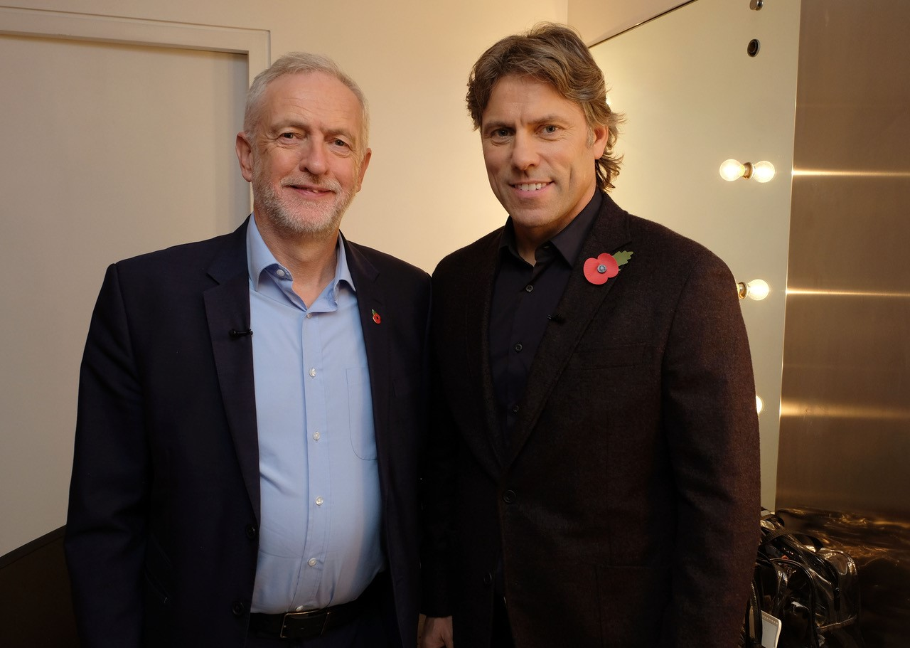 Jeremy Corbyn and John Bishop