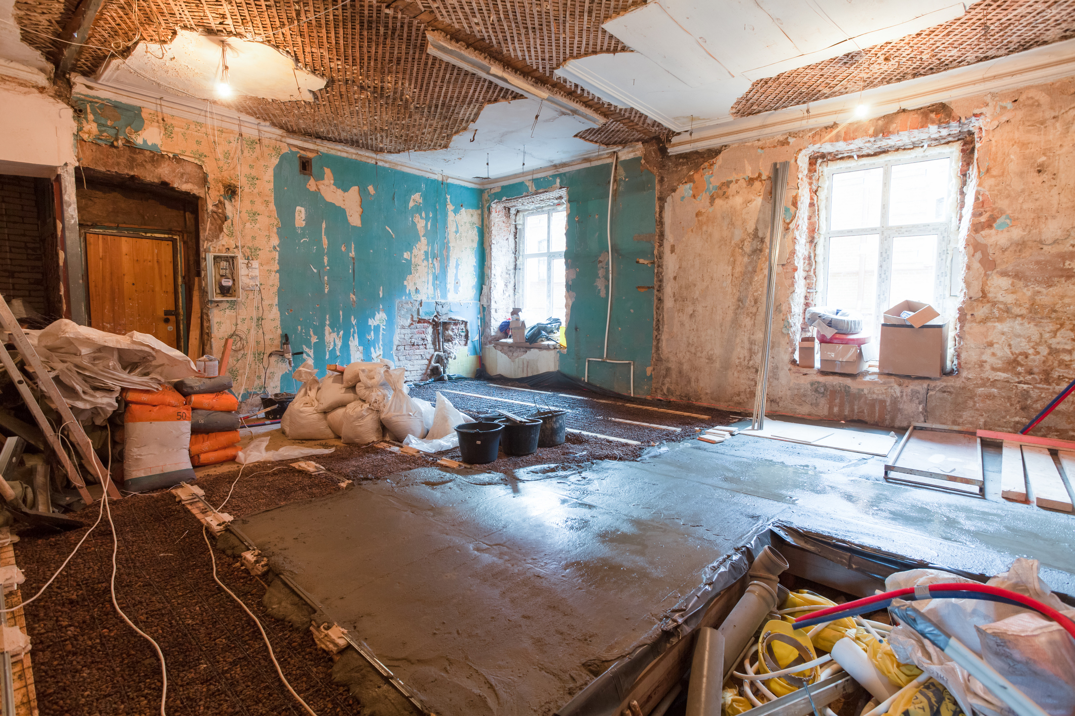 An image of a house being renovated (Thinkstock/PA)