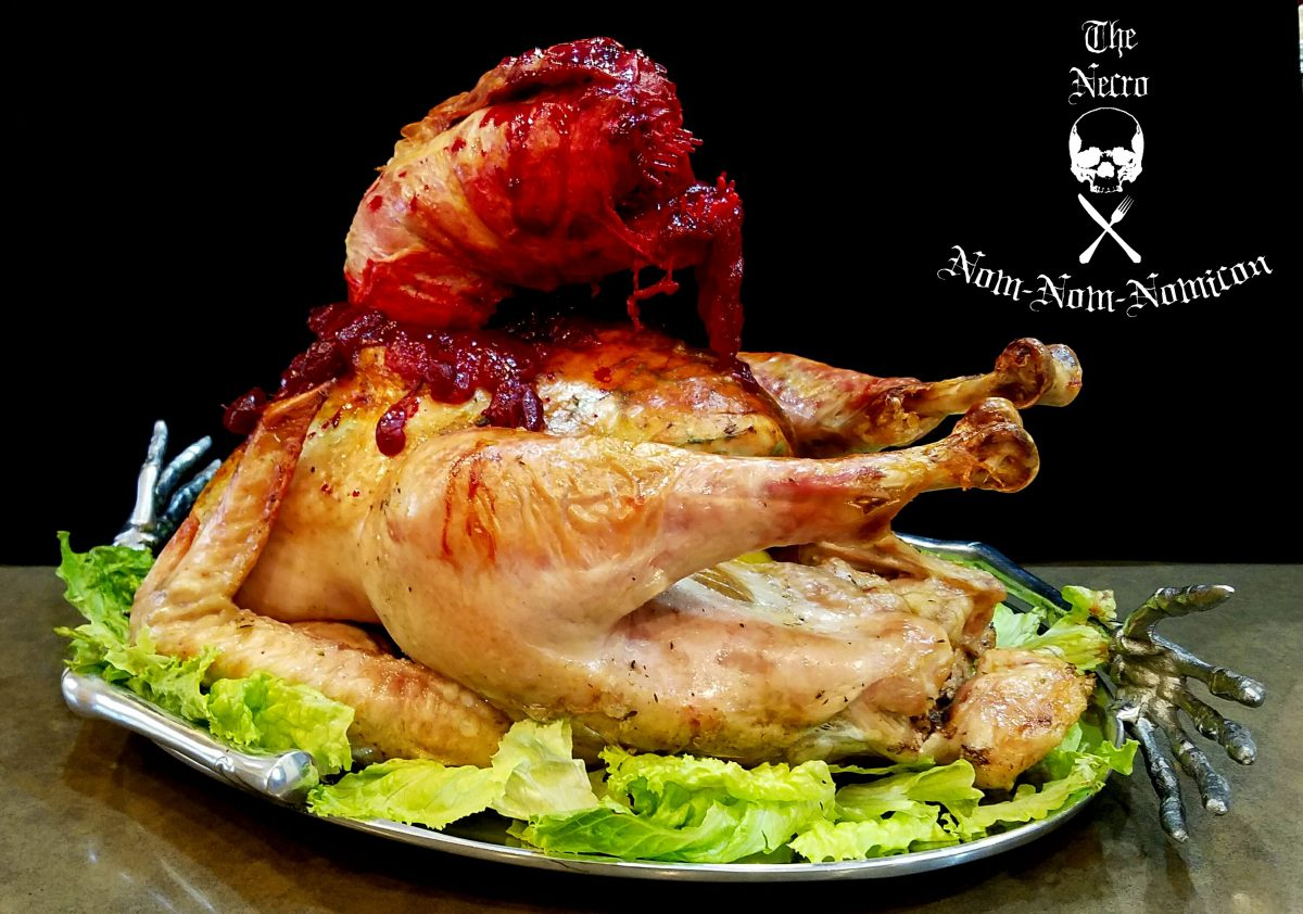 A 'chestbuster' turkey