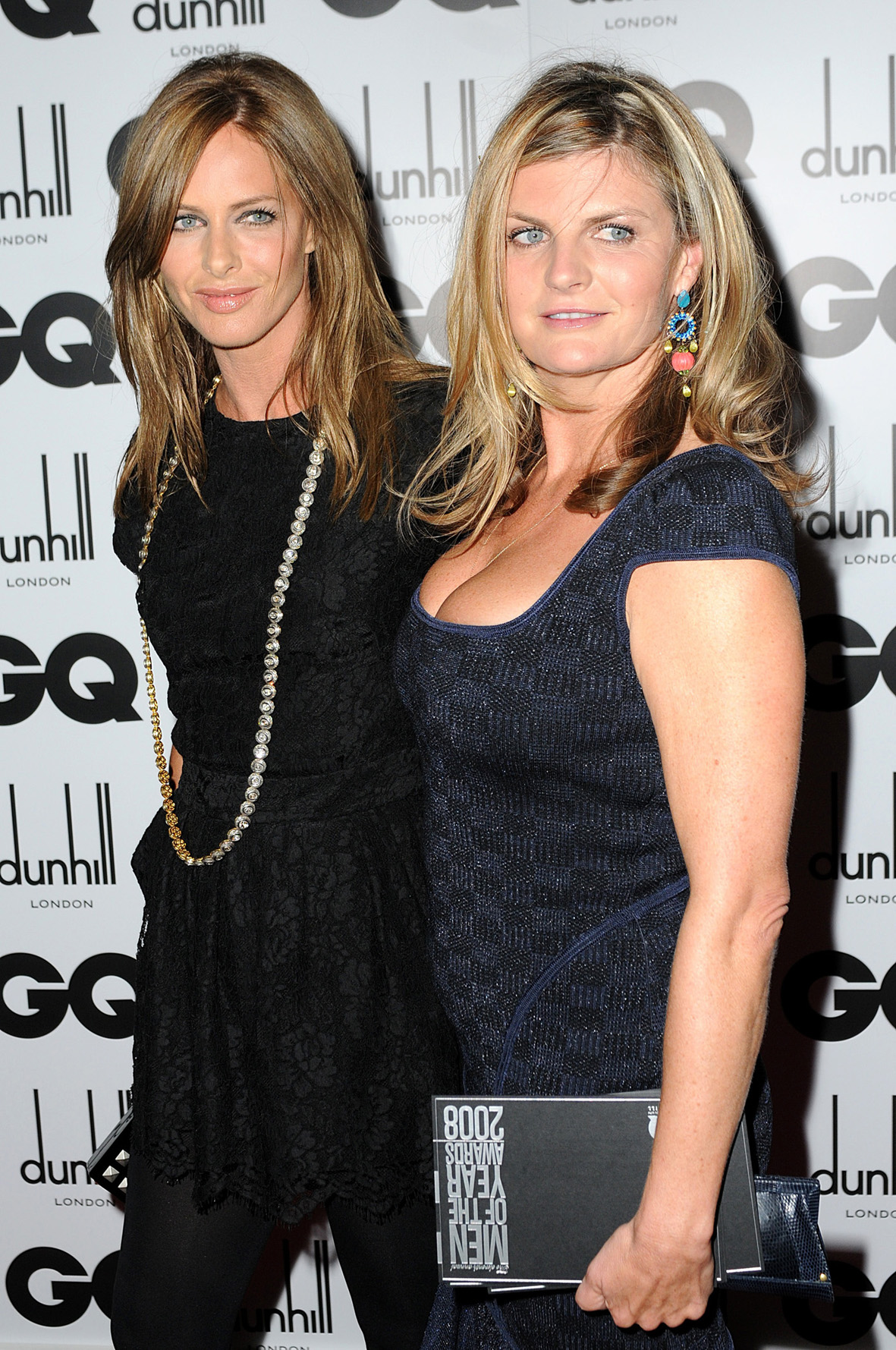 Trinny Woodall (L) and Susannah Constantine arrive for the GQ Men of the Year Awards 2008, Royal Opera House, Covent Garden, London. (Zac Hussein/PA)