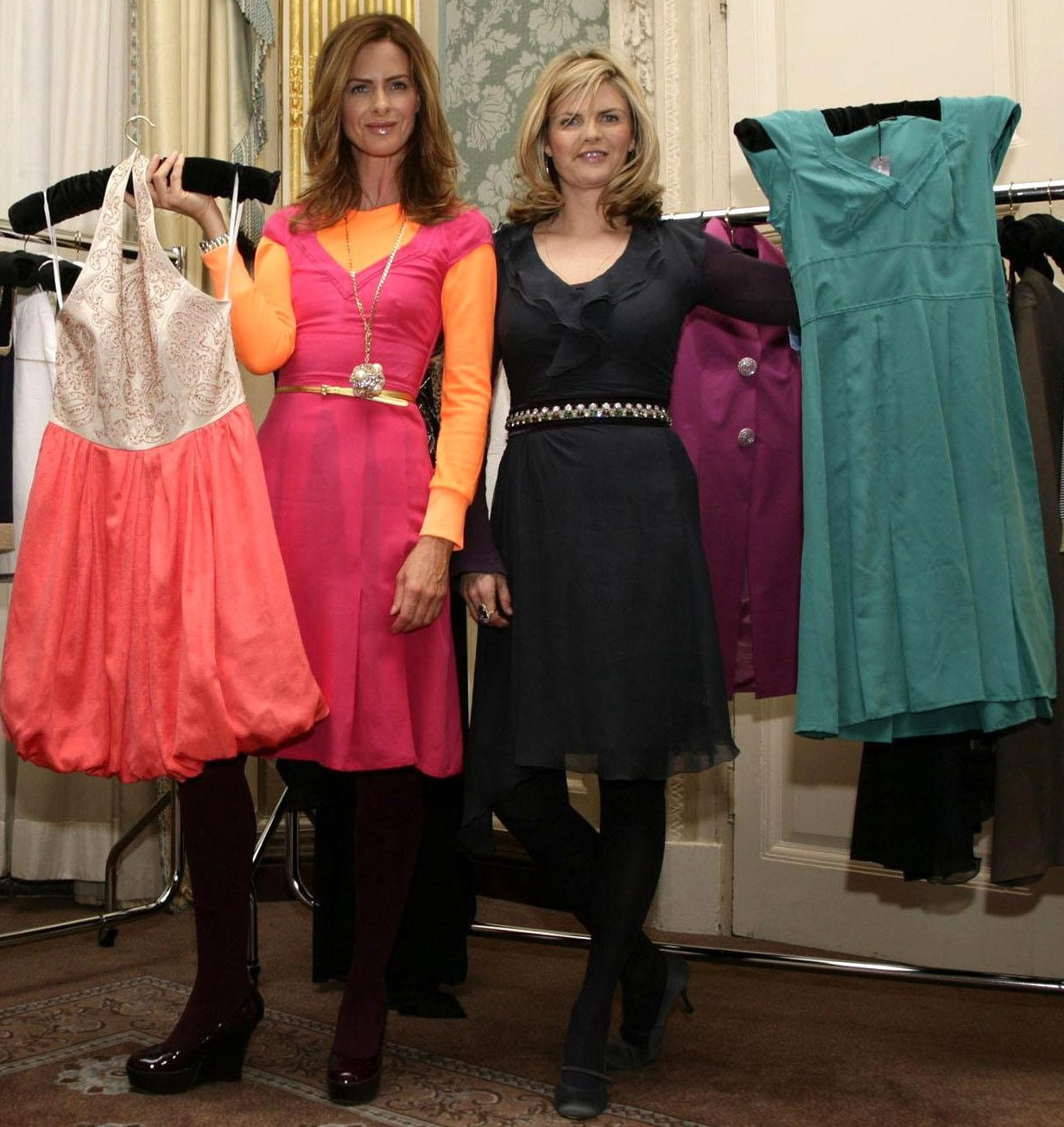Trinny Woodall (left) and Susannah Constantine at the launch of the Littlewoods Direct Spring/Summer Collection in London in 2008. (Yui Mok/PA)