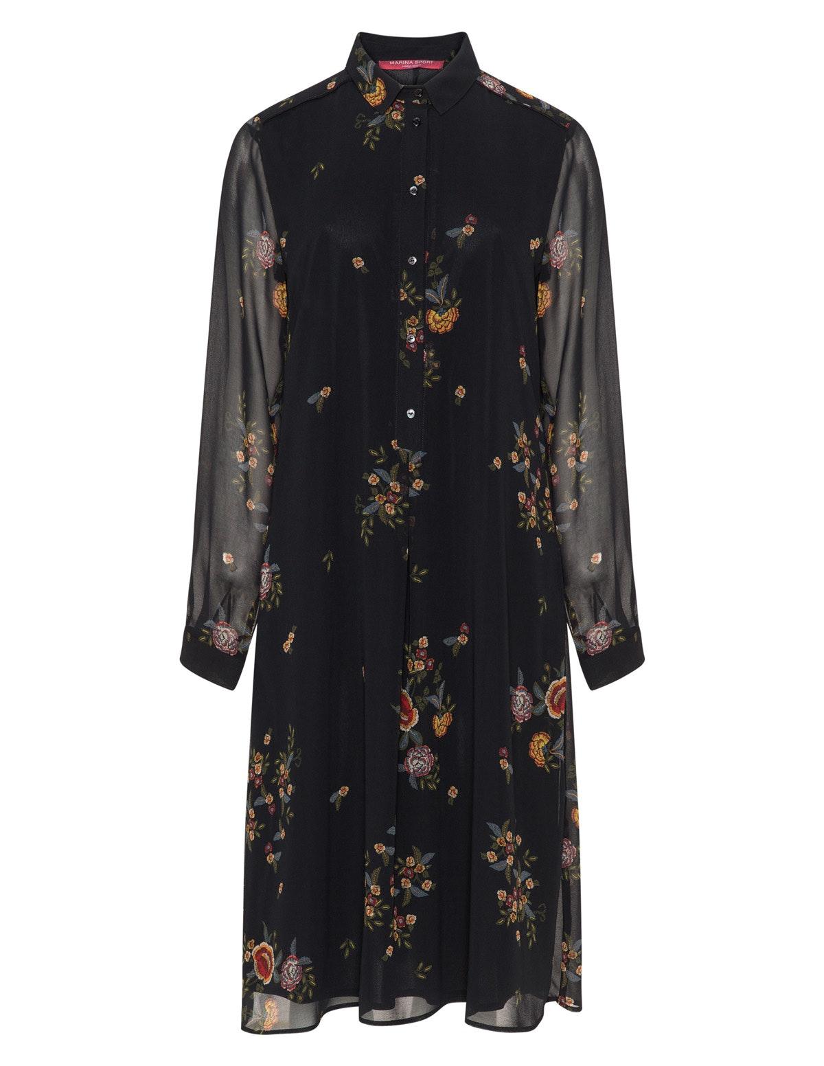 Marina Rinaldi Sport Floral Chiffon Dress