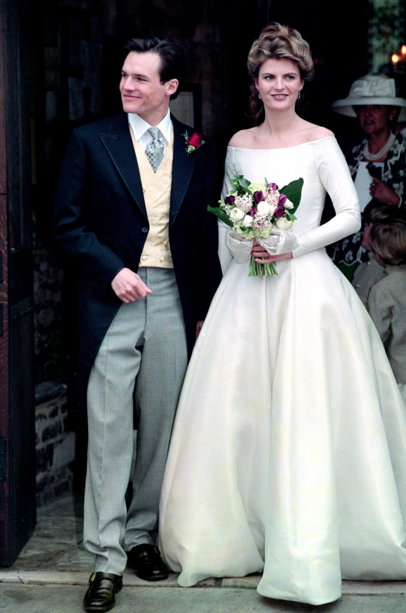 Sten Bertelsen and Susannah Constantine at their wedding in 1995. (PA/Photo Archive)