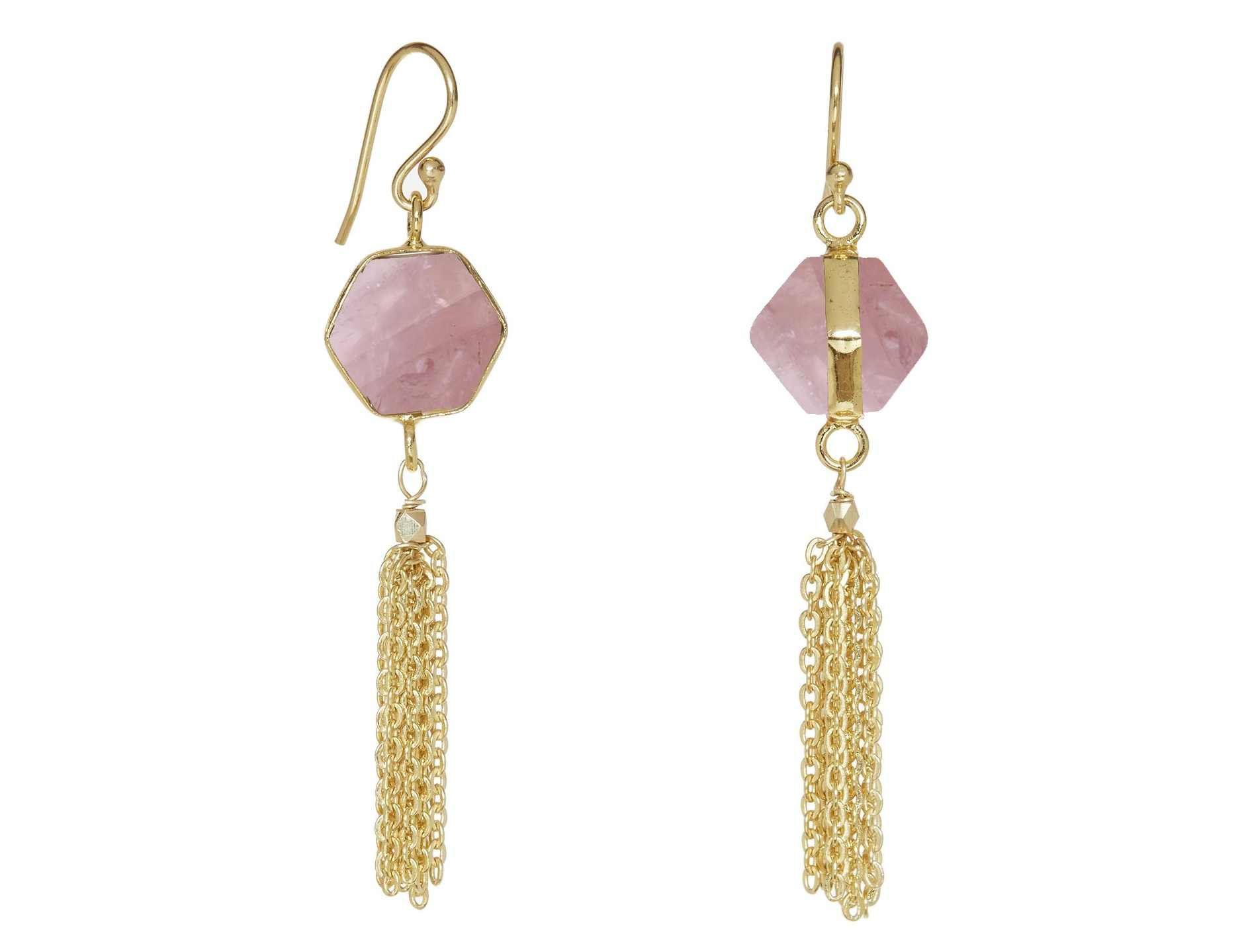 ashiana Plato Earrings Pink Lapis
