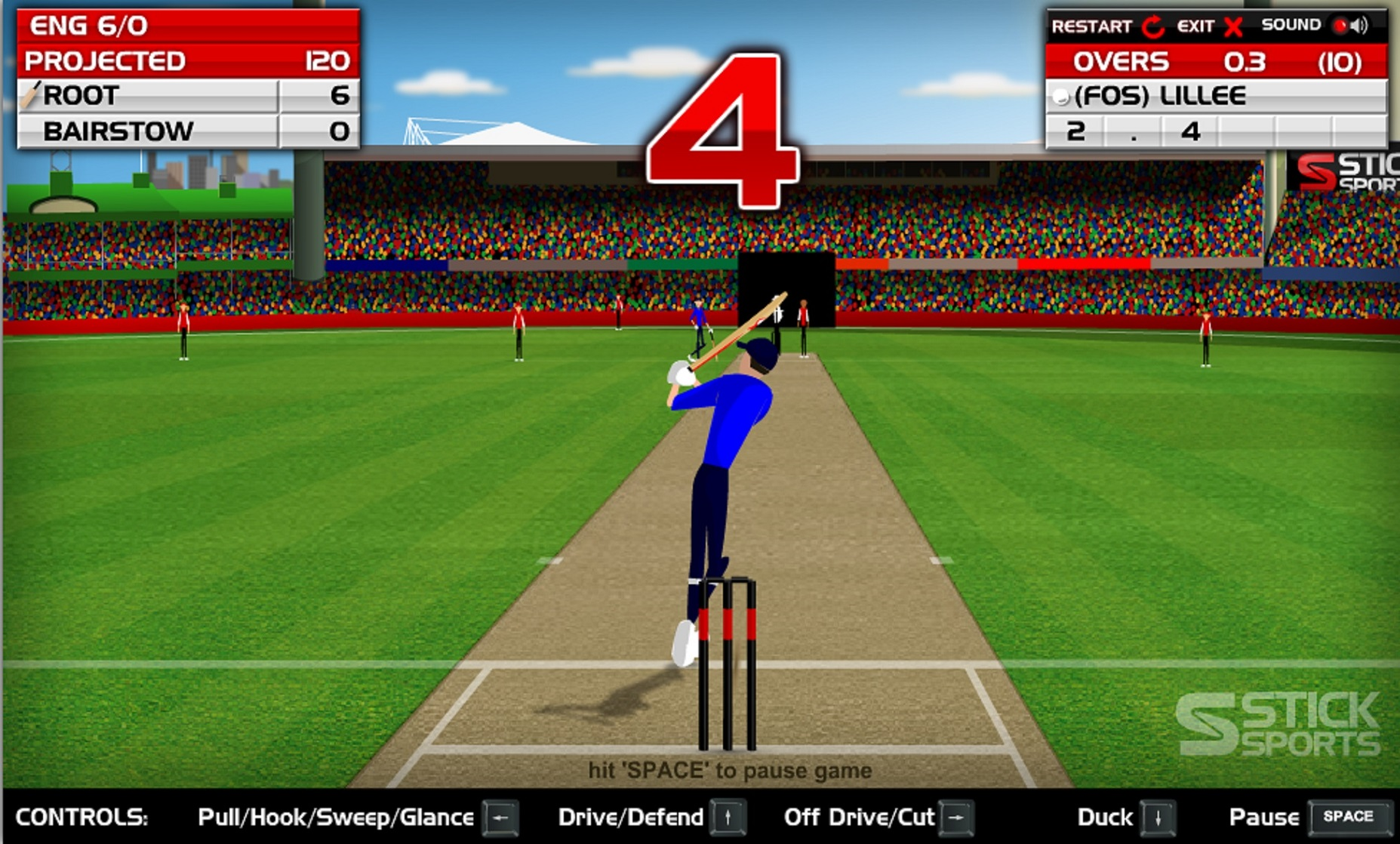 A screen grab from Stick Sports website
