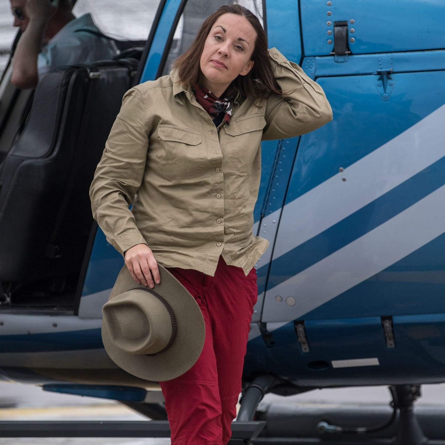 Kezia touches down in Australia.