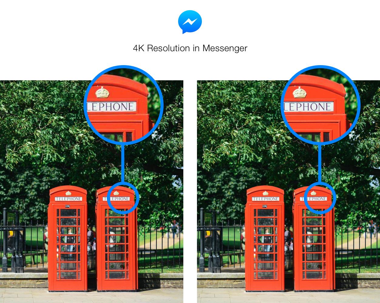 Facebook Messenger now sends photos in 4K