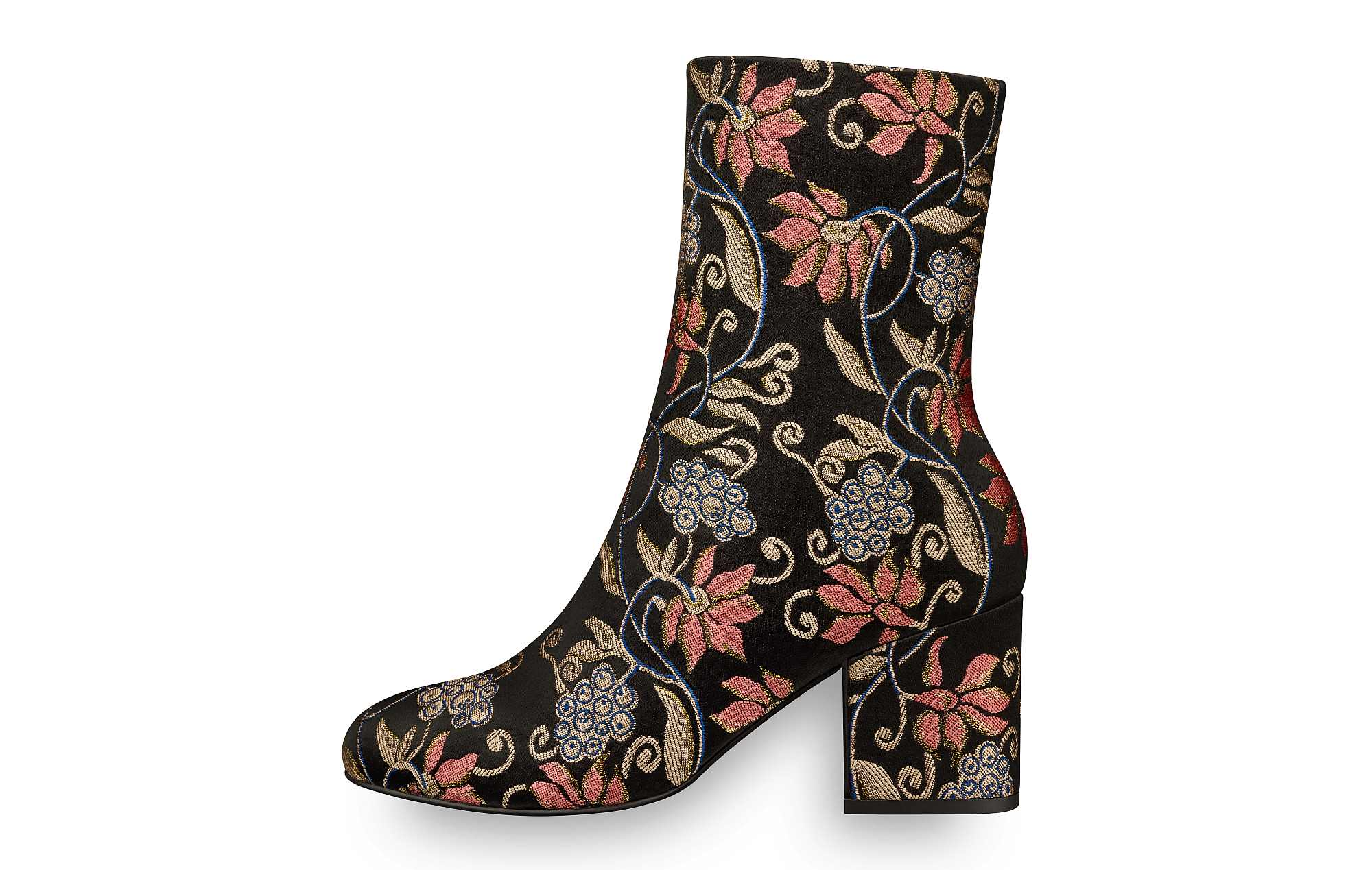 Tamaris Embroidered Ankle Boots