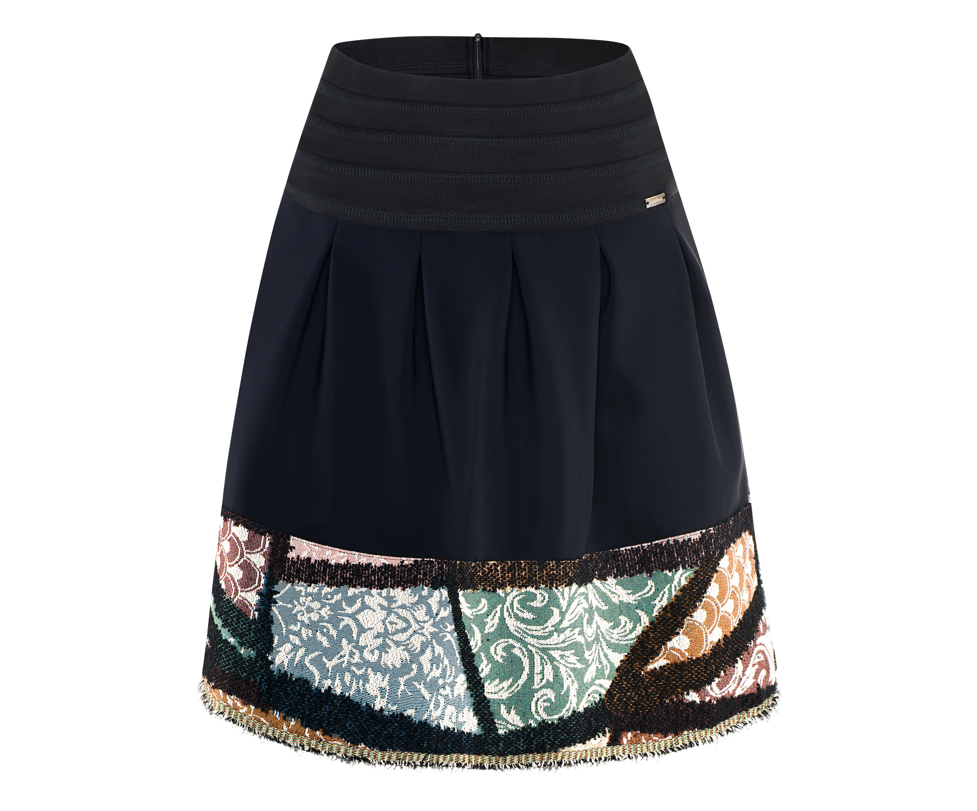 Airfield Flared Skirt with Decorative Edging