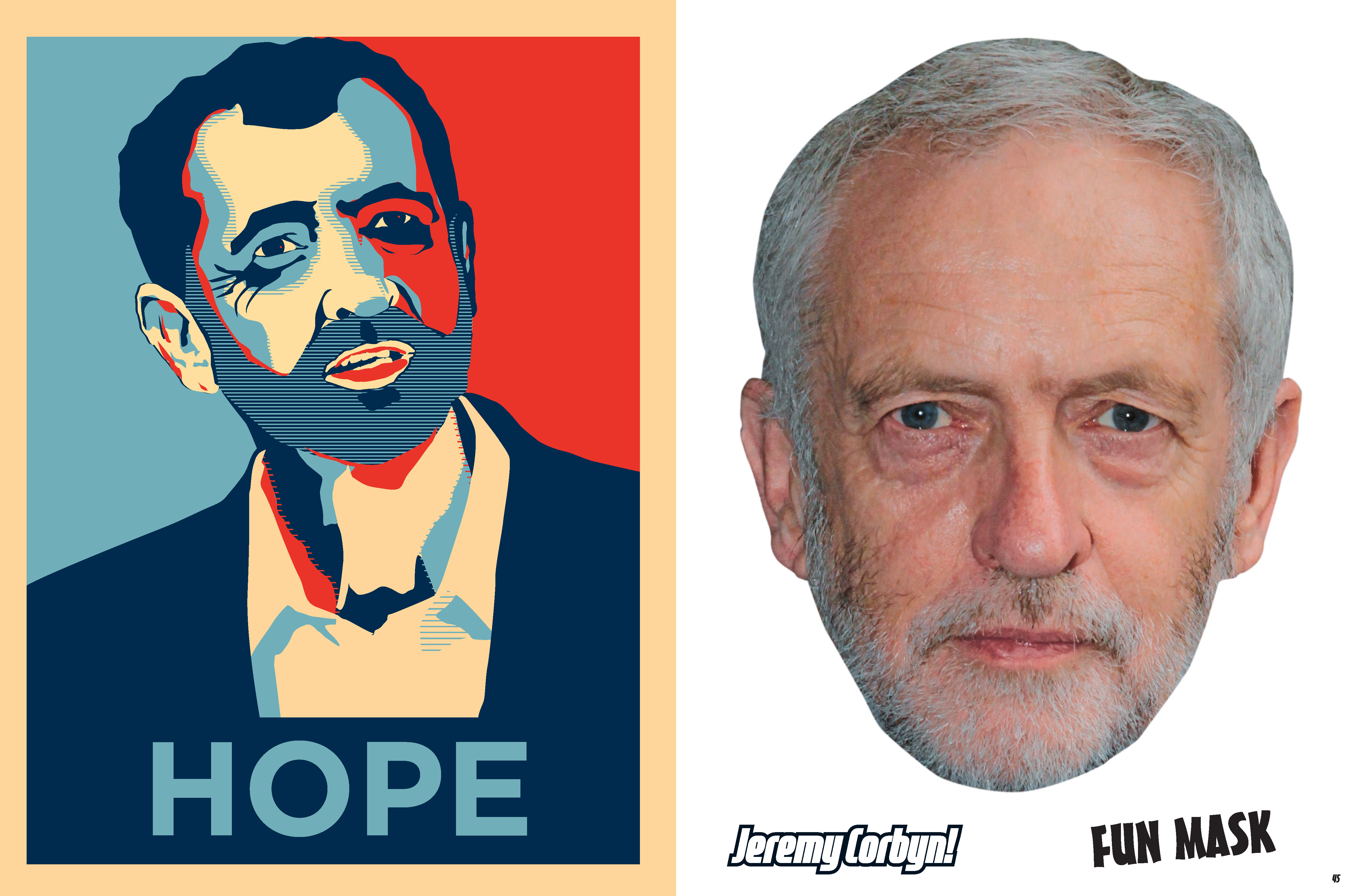 Jeremy Corbyn in the style of Barack Obama's Hope picture (Portico)
