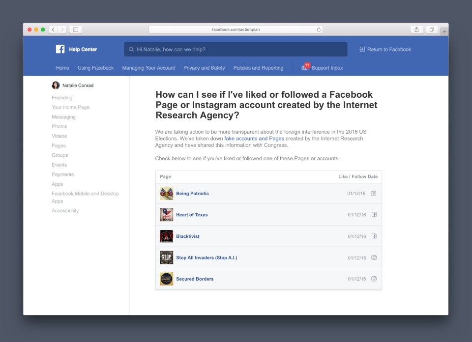 Facebook page checker tool