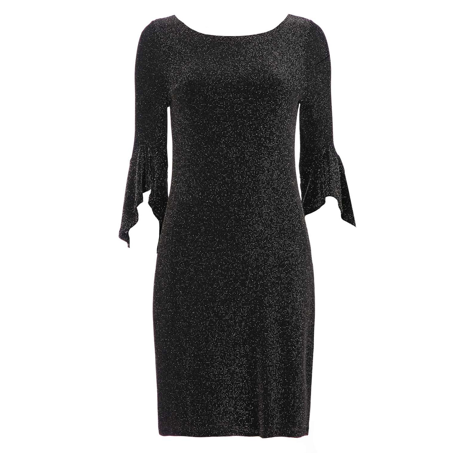 Wallis Petite Black Sparkle Flute Sleeve Dress, £45
