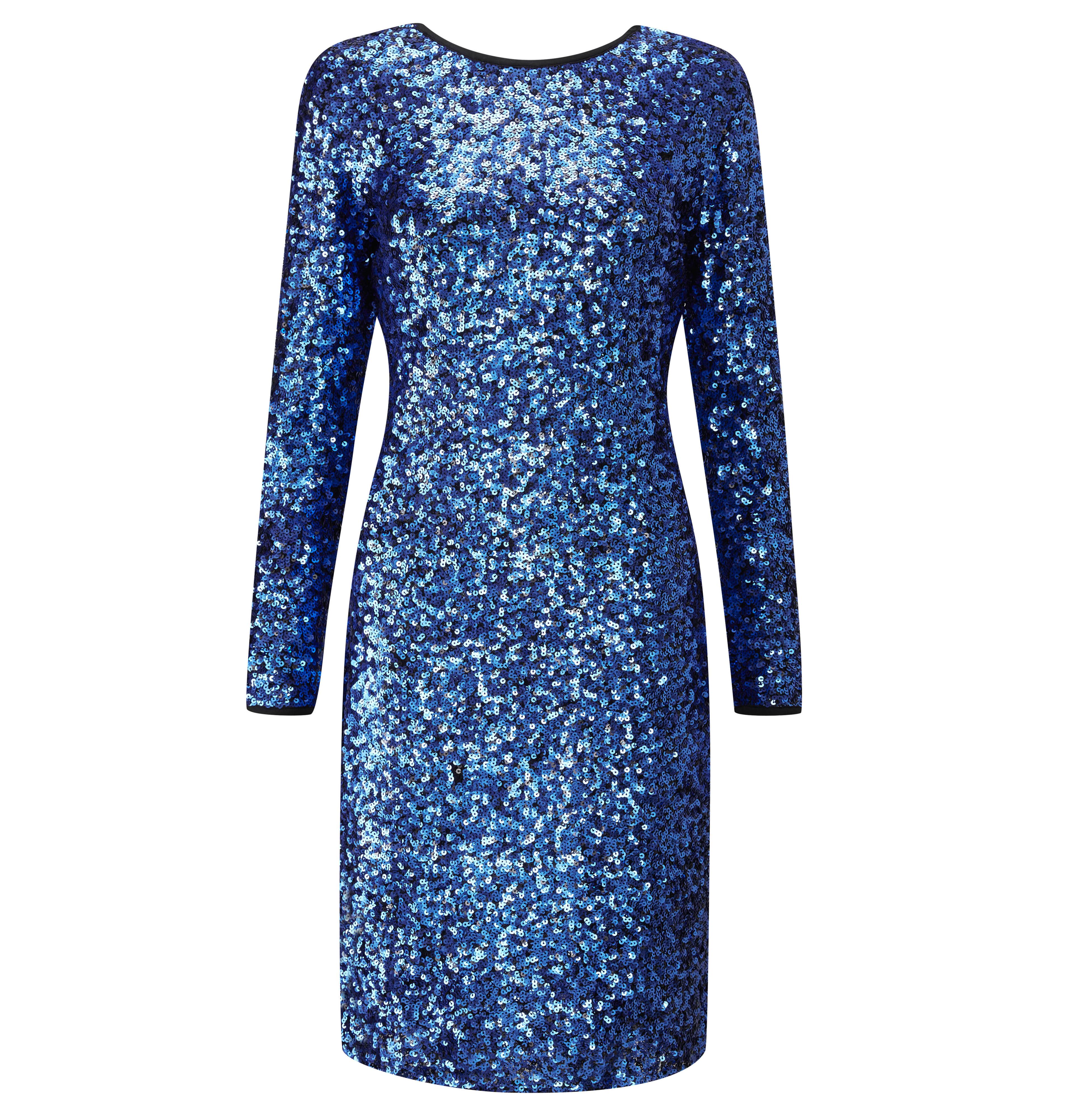 Sosandar Sapphire Sequin Dress, £89
