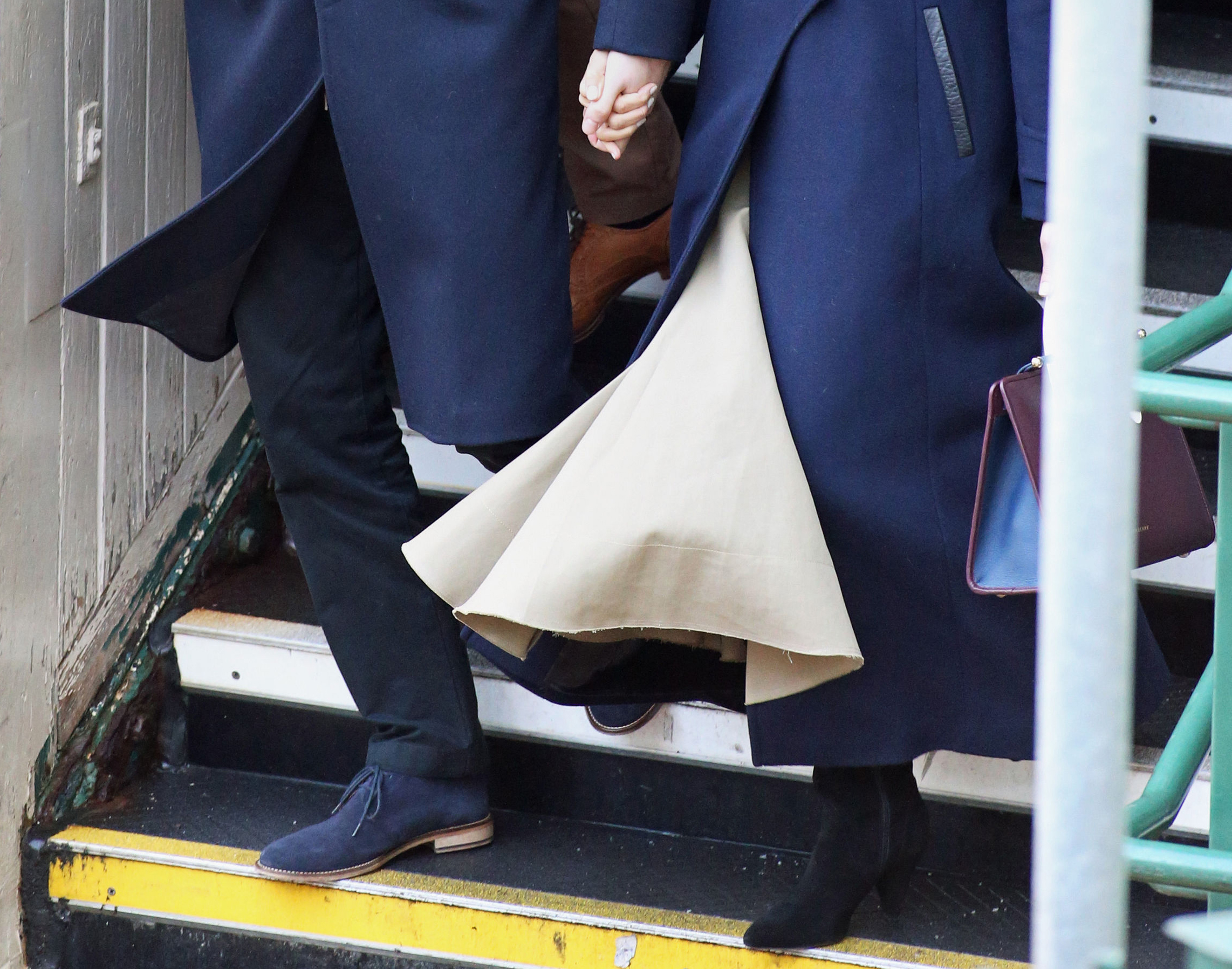 Prince Harry and Meghan Markle arrive at Nottingham Station ahead of their first official engagement together (Steve Parsons/PA)