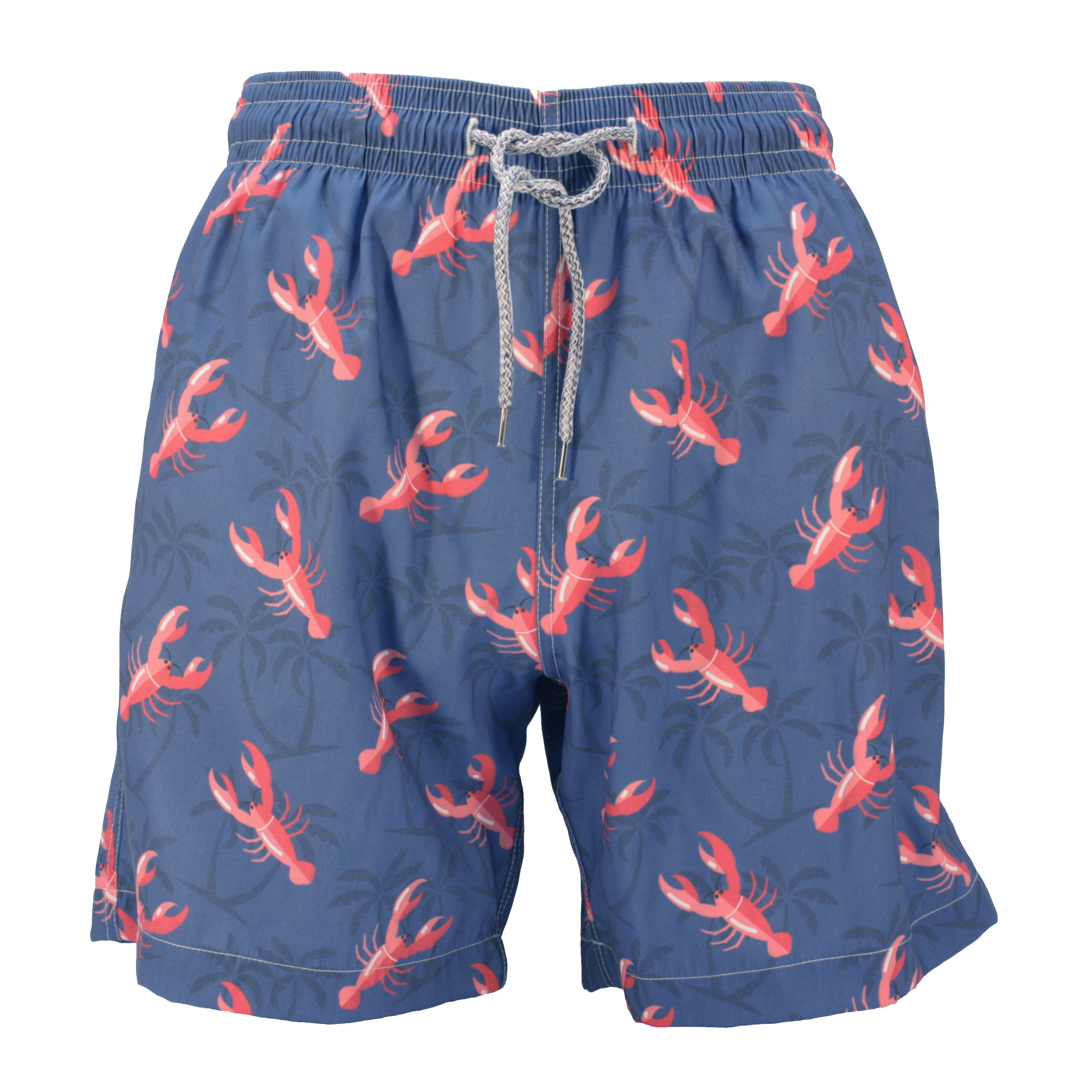 Reef Knots Men's Dark Blue Lobster Swim Shorts