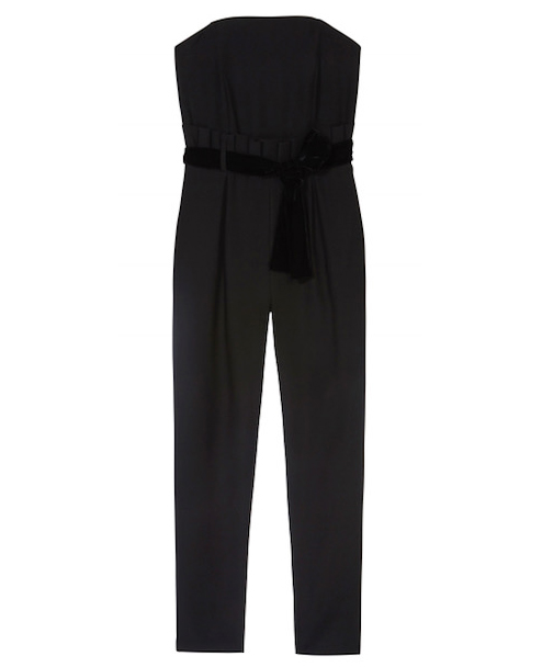 issa london black strapless jumpsuit
