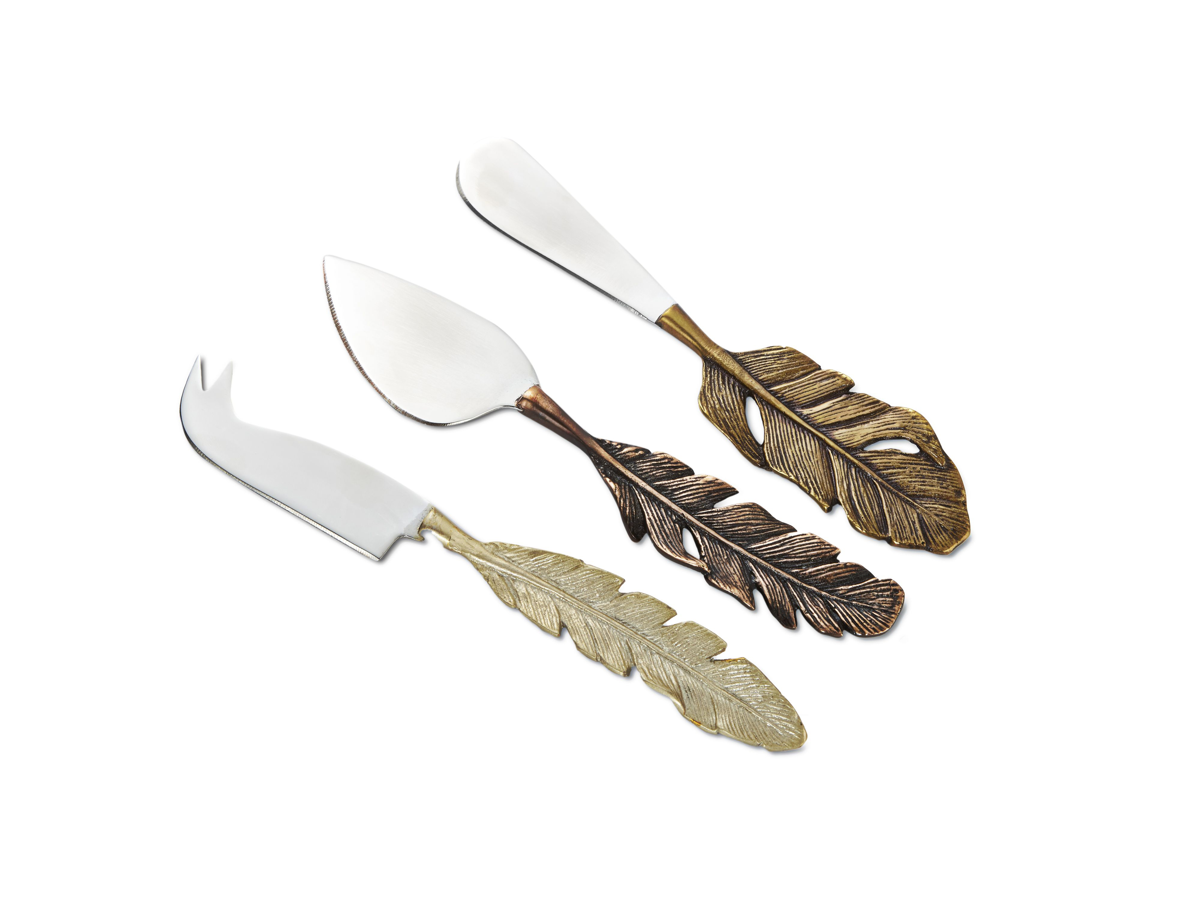 Feather cheese knives, Laura Ashley (Laura Ashley/PA)
