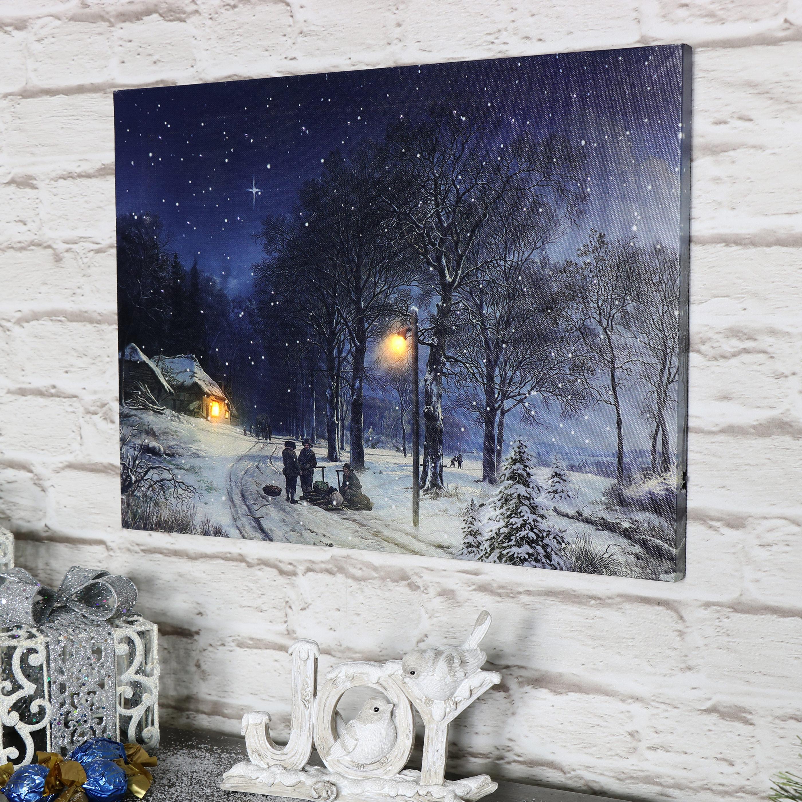 how to make a christmas scene on canvas thatlightsup