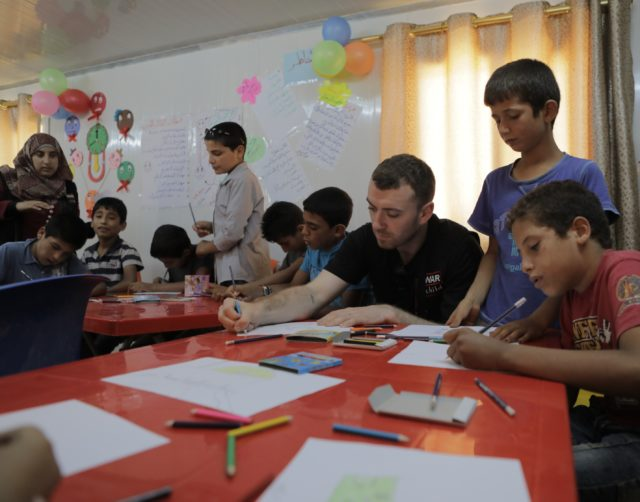 Sam Smith pictured on one of his visits as a global ambassador for War Child UK (War Child UK).