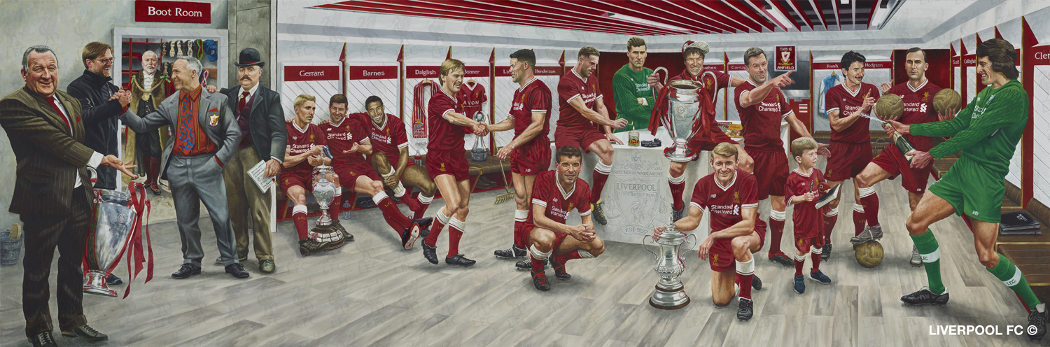 A unique Liverpool artwork created by sports artist Jamie Cooper