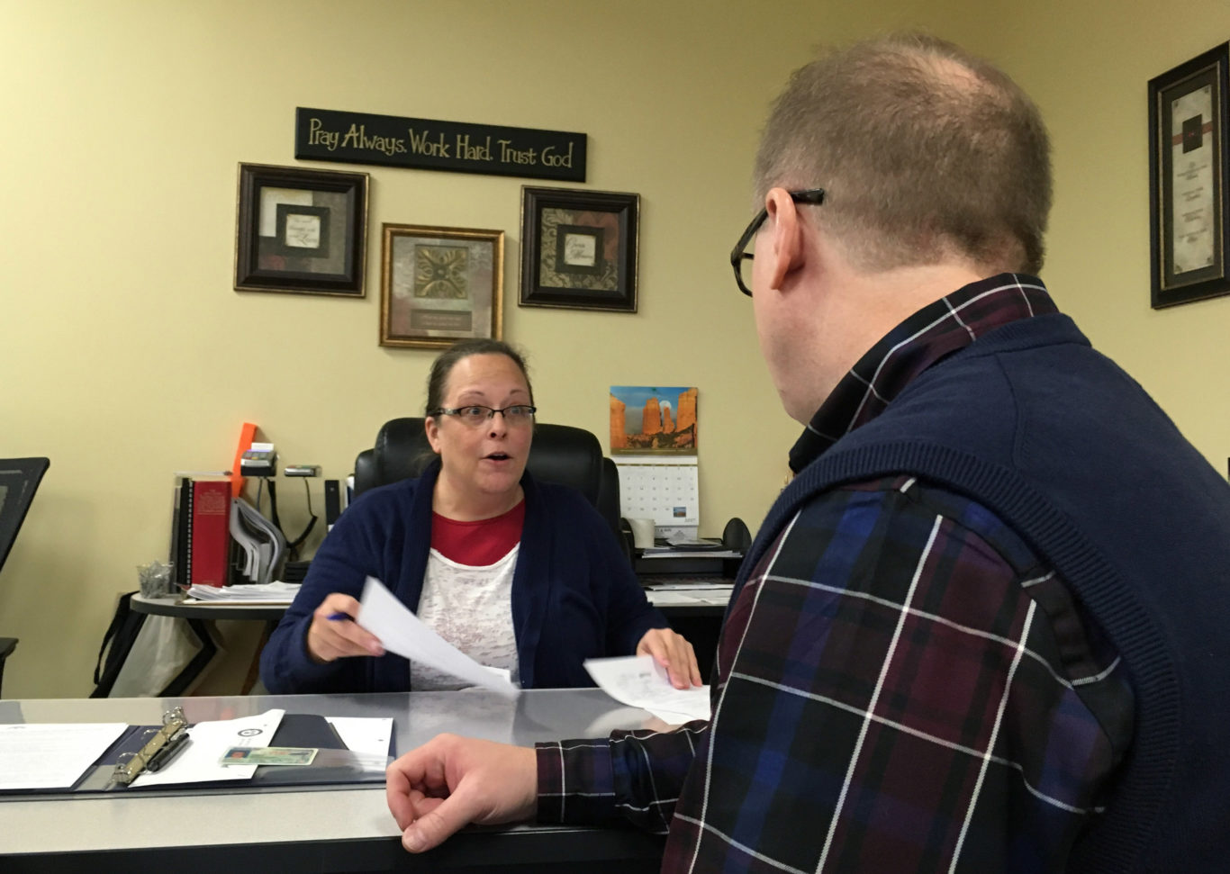 Kim Davis watched David Ermold file his candidacy for Rowan County clerk