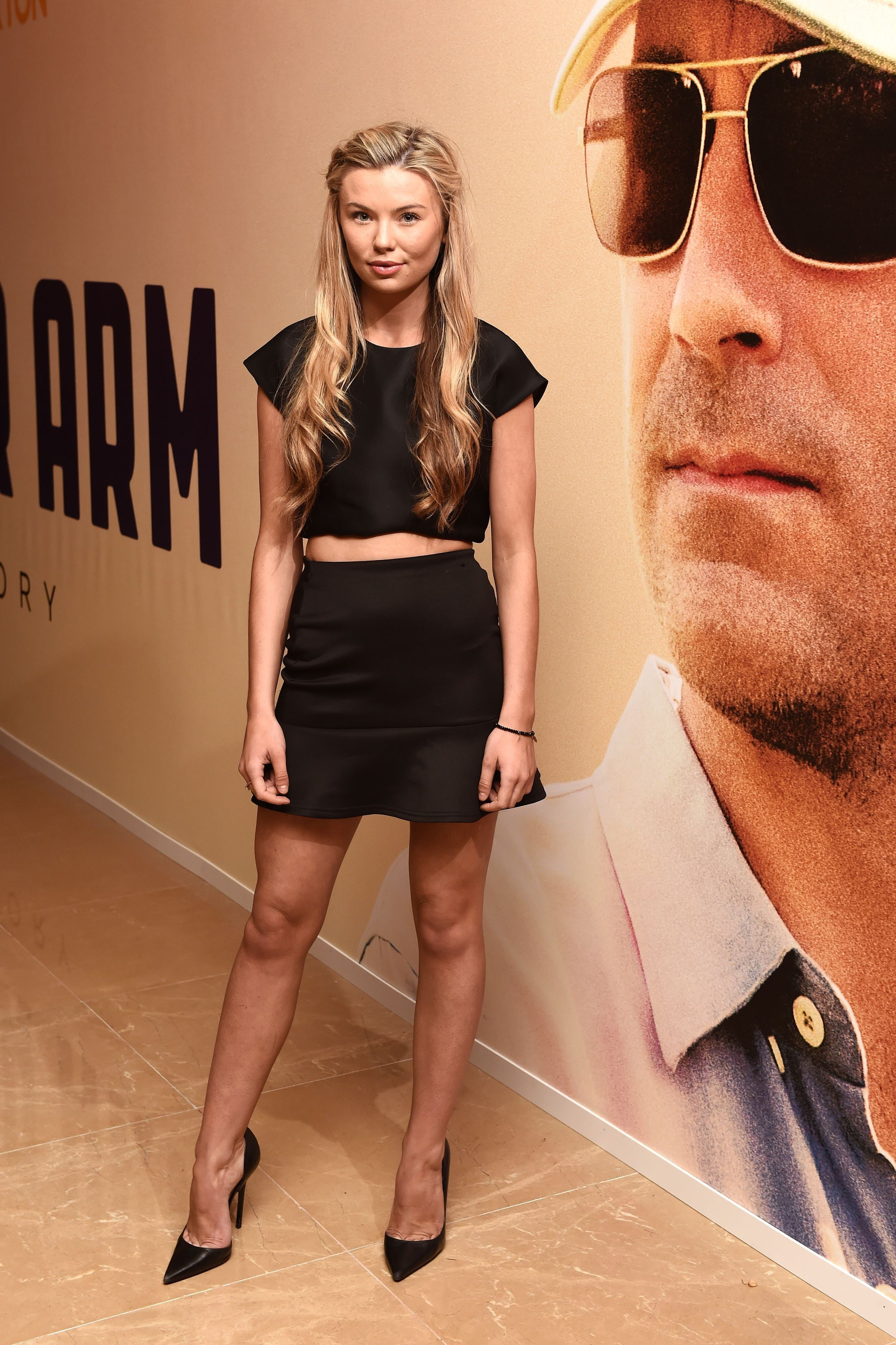 Georgia Toffolo attending a screening for new film Million Dollar Arm at the Mayfair Hotel in London