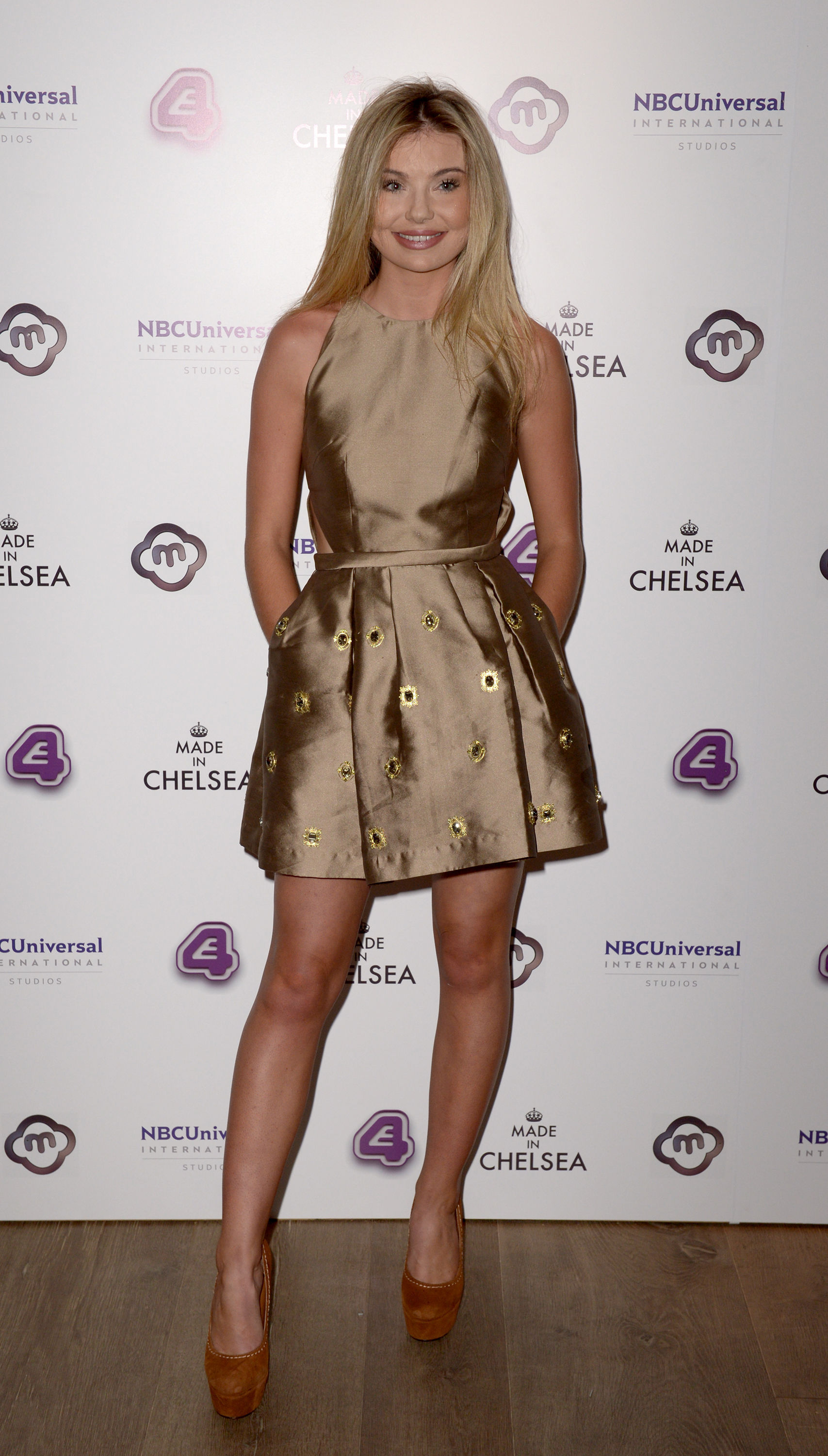 Georgia Toffolo attends the Made in Chelsea series 10 premiere at the Ham Yard Hotel, London