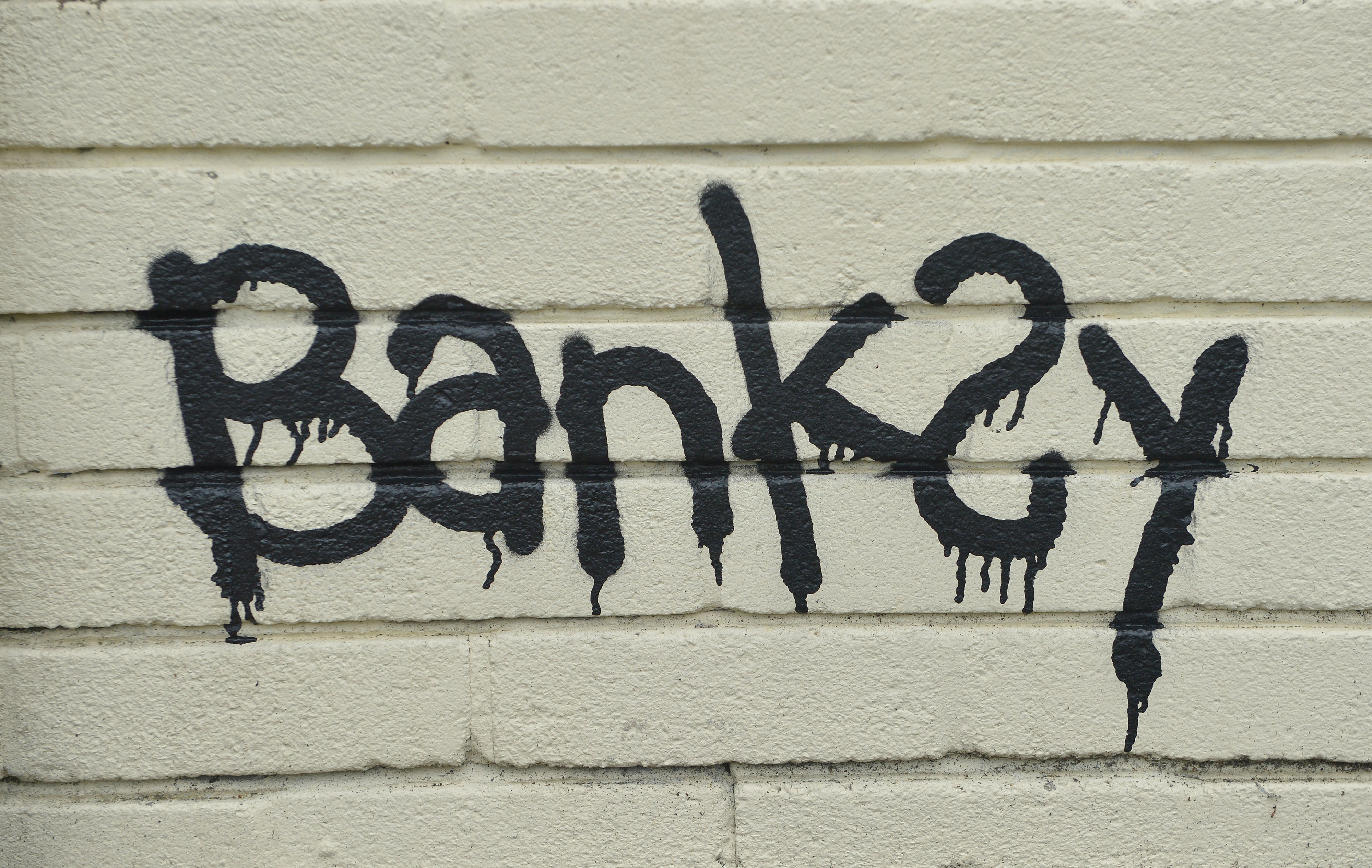 A Banksy signature on a mural (Ben Birchall/PA)