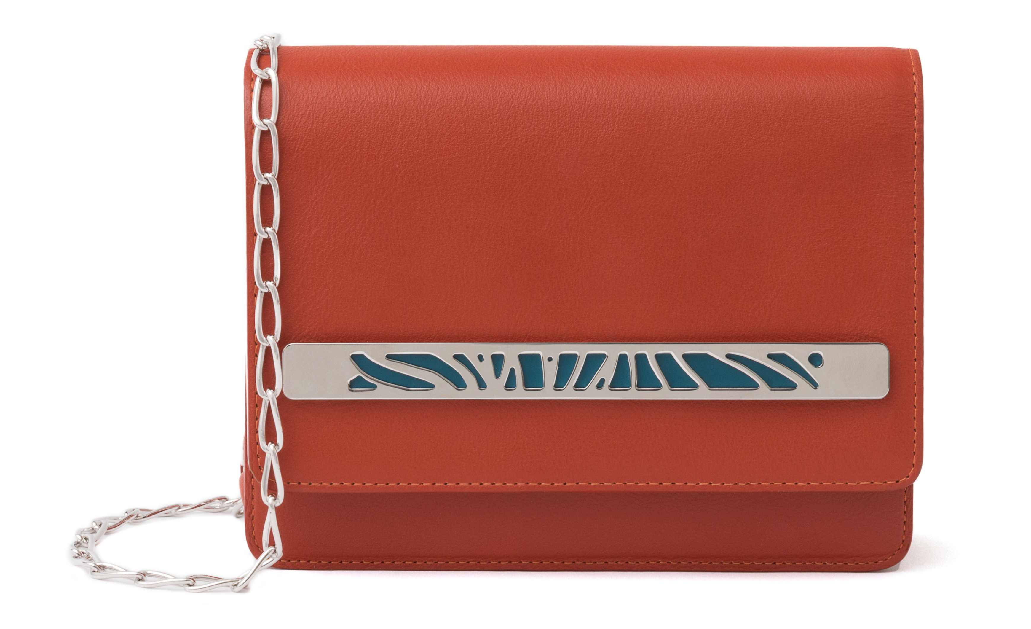 Les Georgettes Le Mini Bijoubag Rust with Silver Band