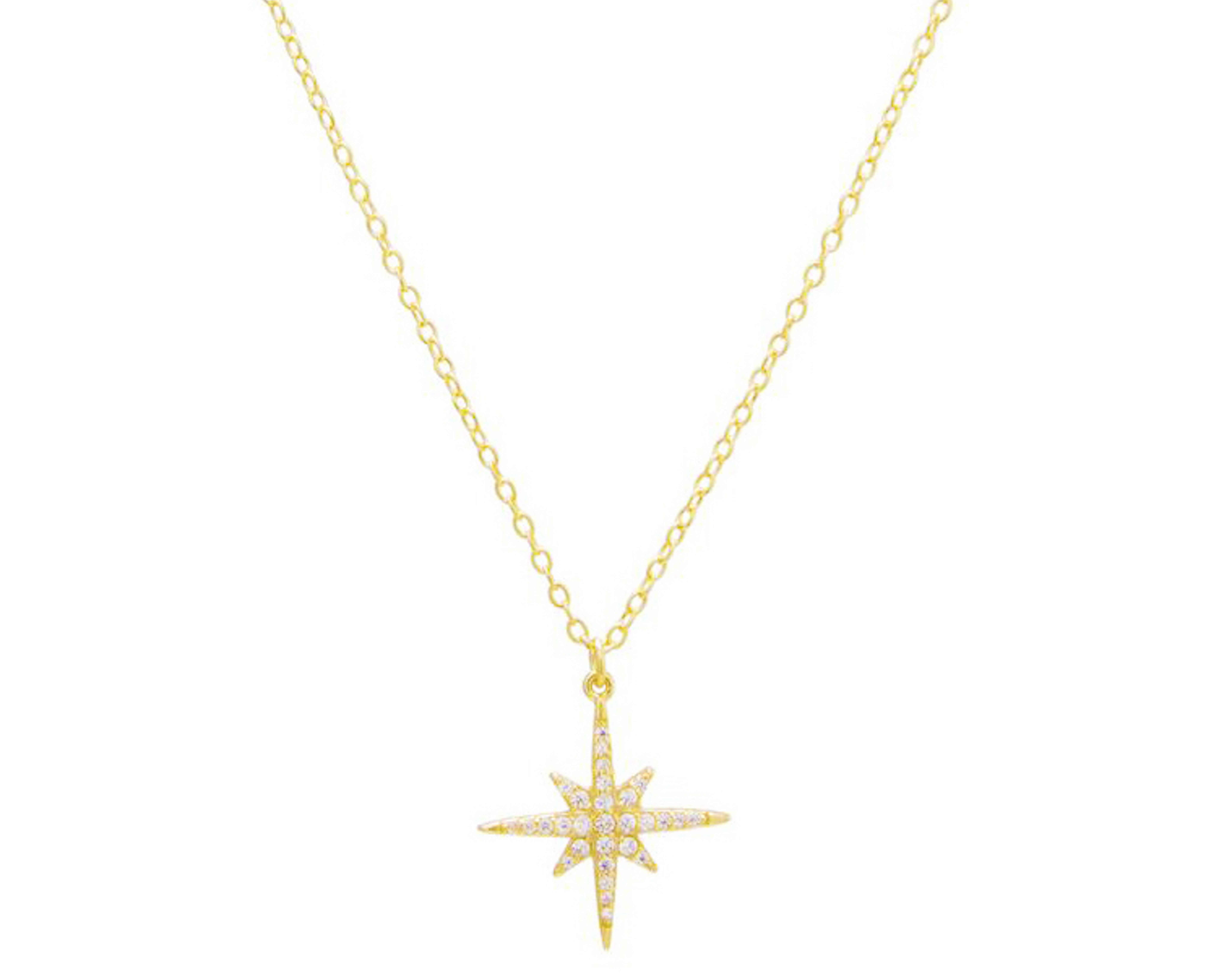 Alexi London North Star Necklace Gold