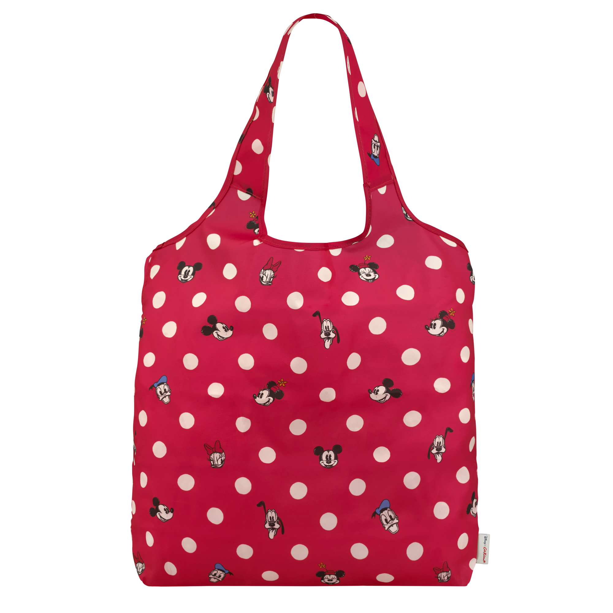Cath Kidston Mickey and Friends Button Spot Foldaway Shopper