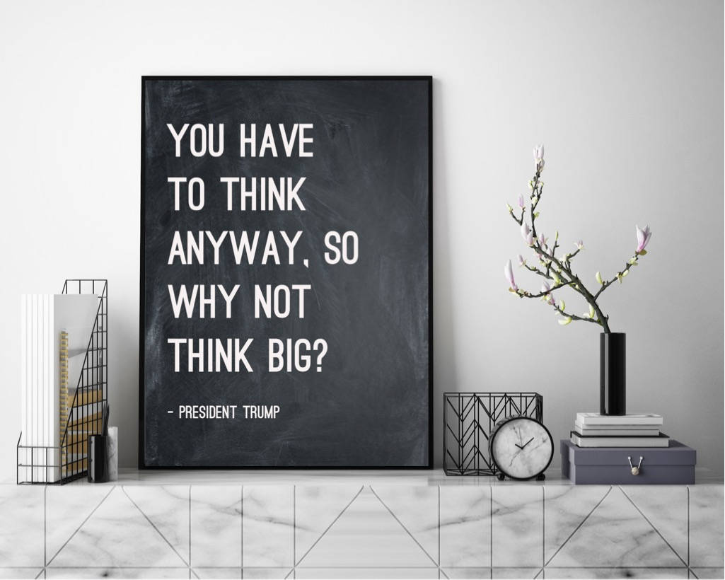 Donald Trump quote canvas