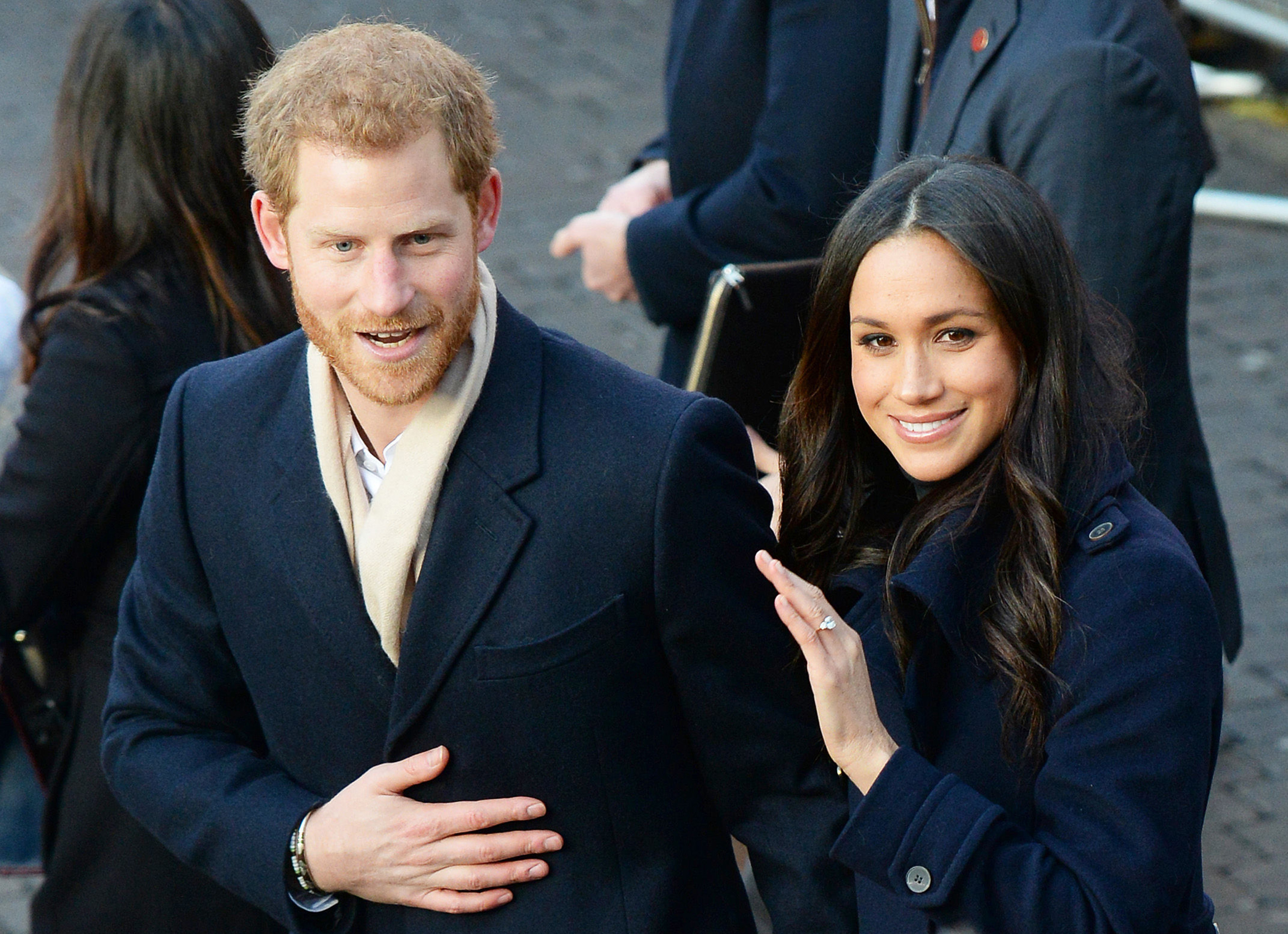 Prince Harry and Meghan Markle arrive at the Nottingham Contemporary in Nottingham, to attend a Terrence Higgins Trust World AIDS Day charity fair (Joe Giddens/PA)