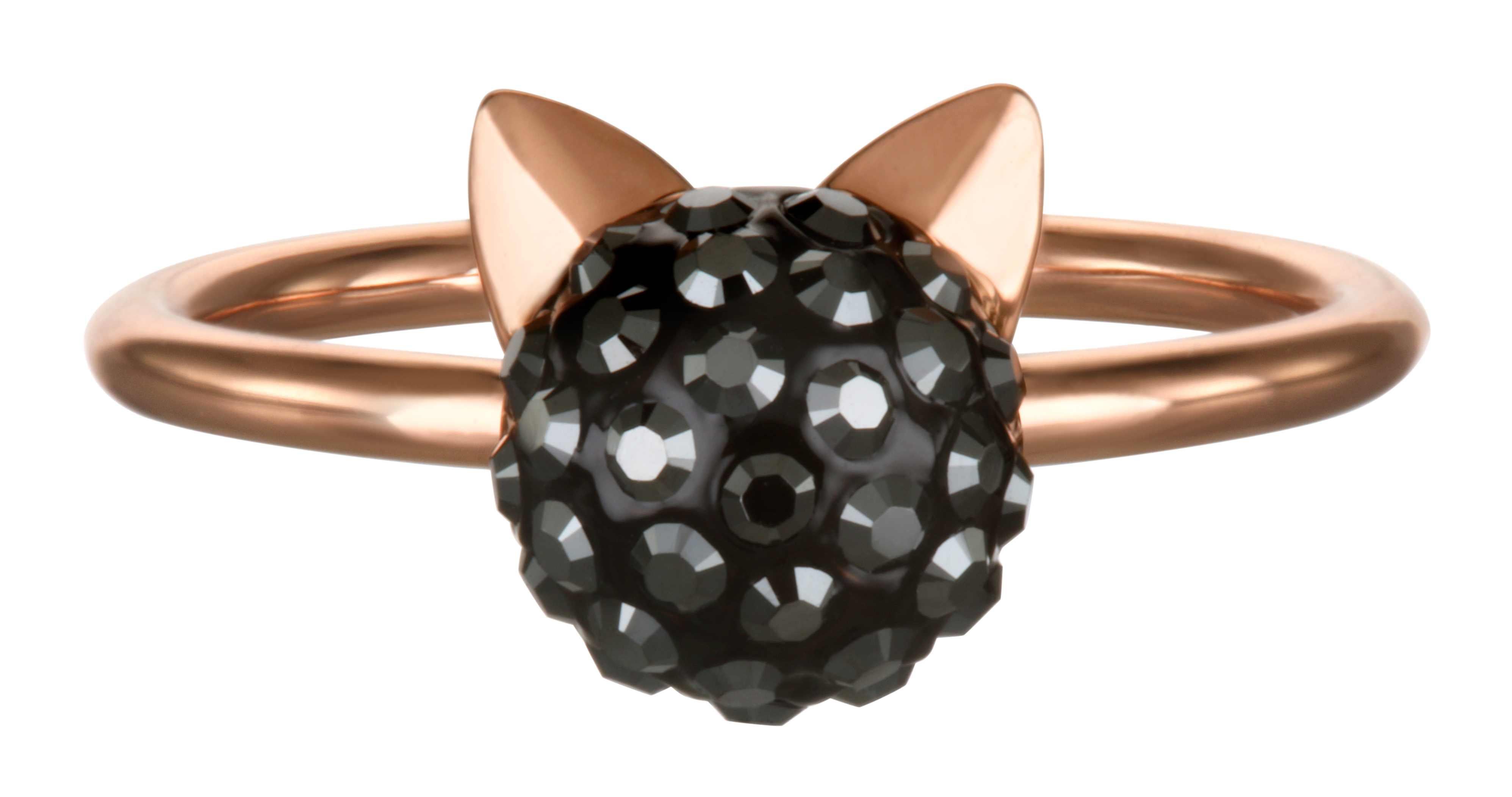 Karl Lagerfeld Jewellery Rose Gold Plated Choupette Ring