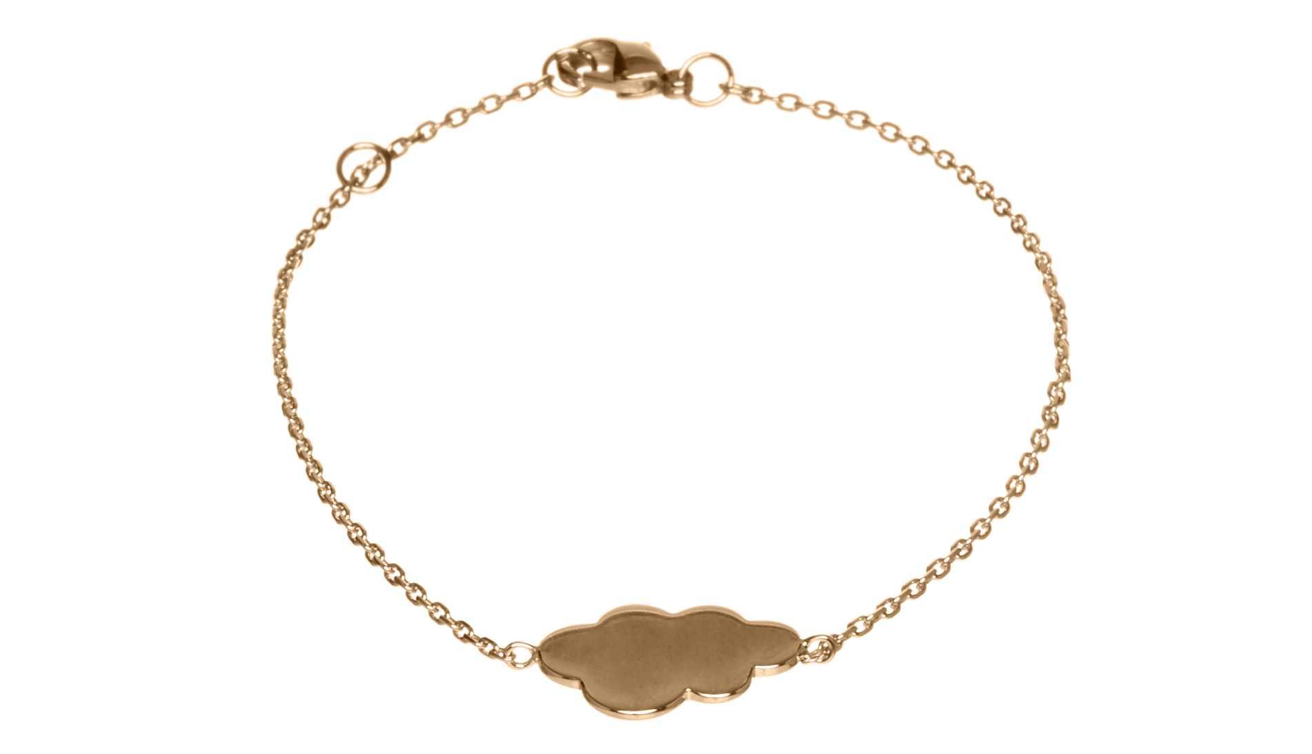 Elise & Moi Cloud Bracelet Gold Fill