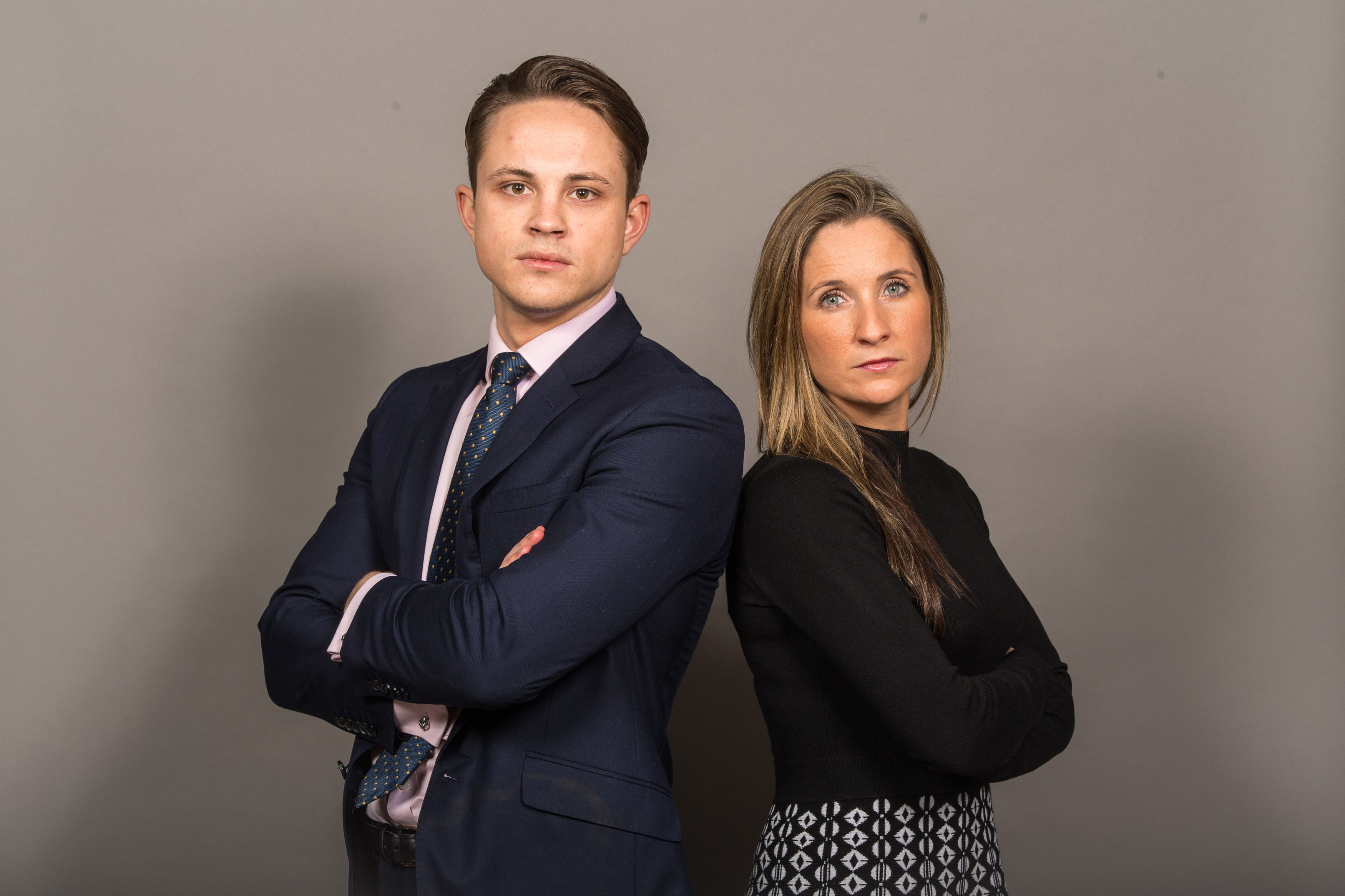 The Apprentice finalists James White and Sarah Lynn (Dominic Lipinski/PA)