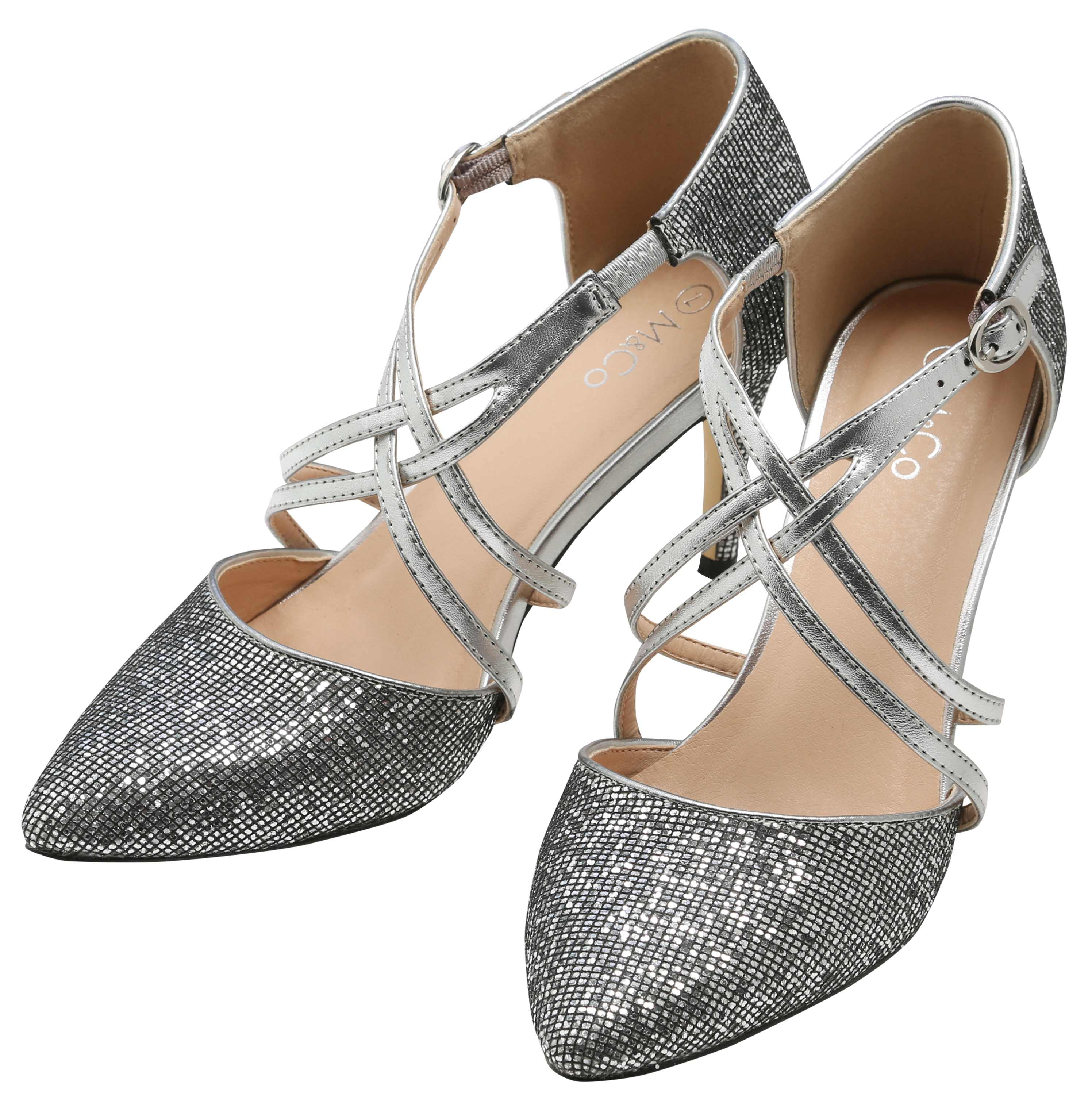 M&Co Sparkly Heeled Courts