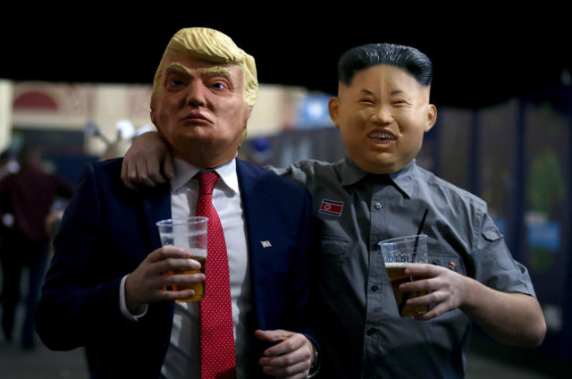 Donald Trump and Kim Jong-un fancy dress