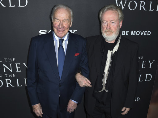 Scott with Christopher Plummer at the world premiere